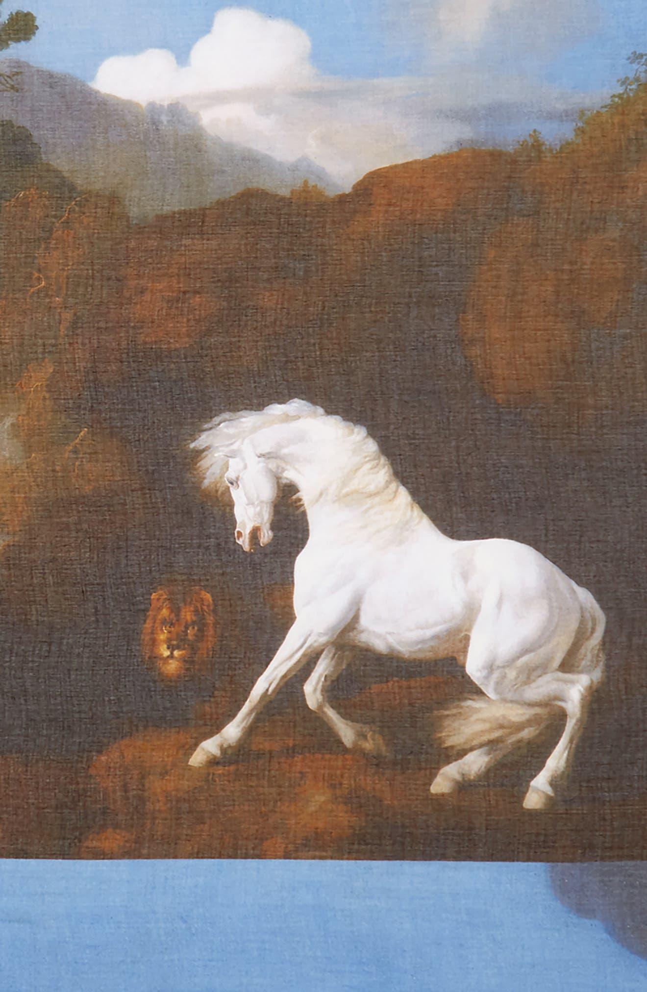 Alternate Image 3  - Stella McCartney Stubbs Horse Printed Scarf