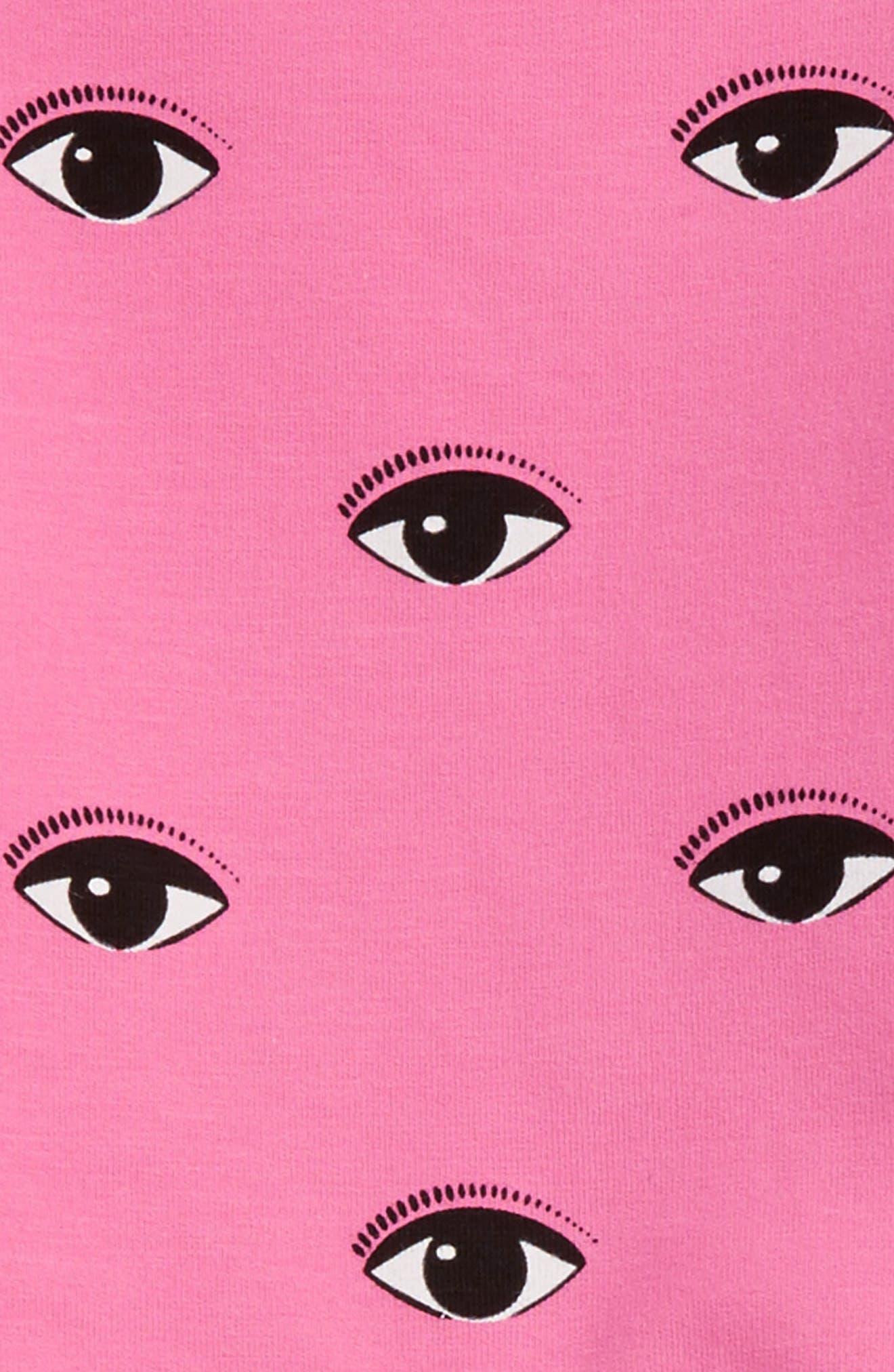 Eye Print Sweatshirt,                             Alternate thumbnail 2, color,                             Old Pink