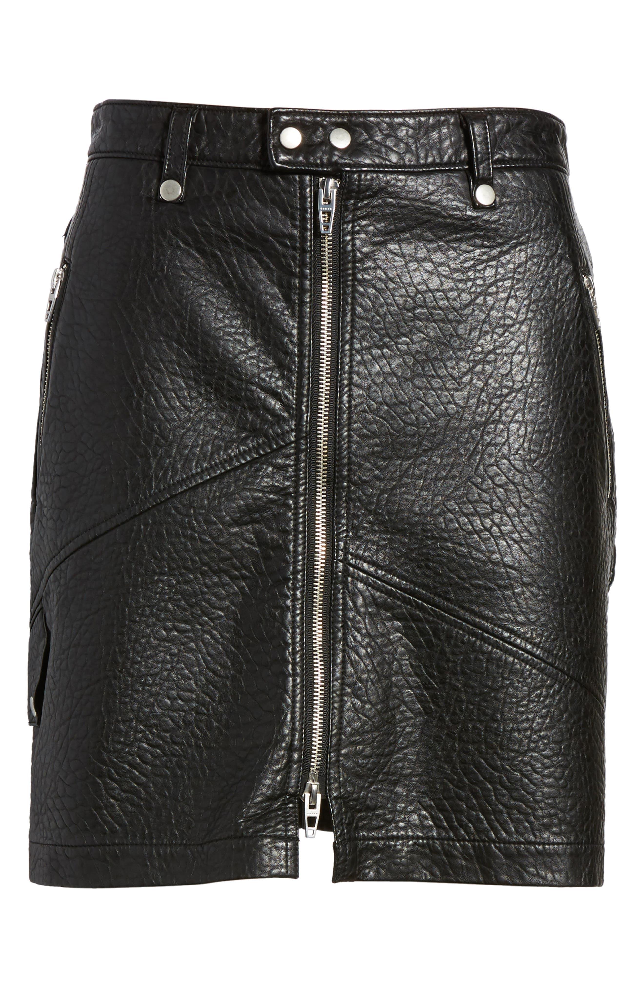 Alternate Image 7  - BLANKNYC Faux Leather Moto Skirt
