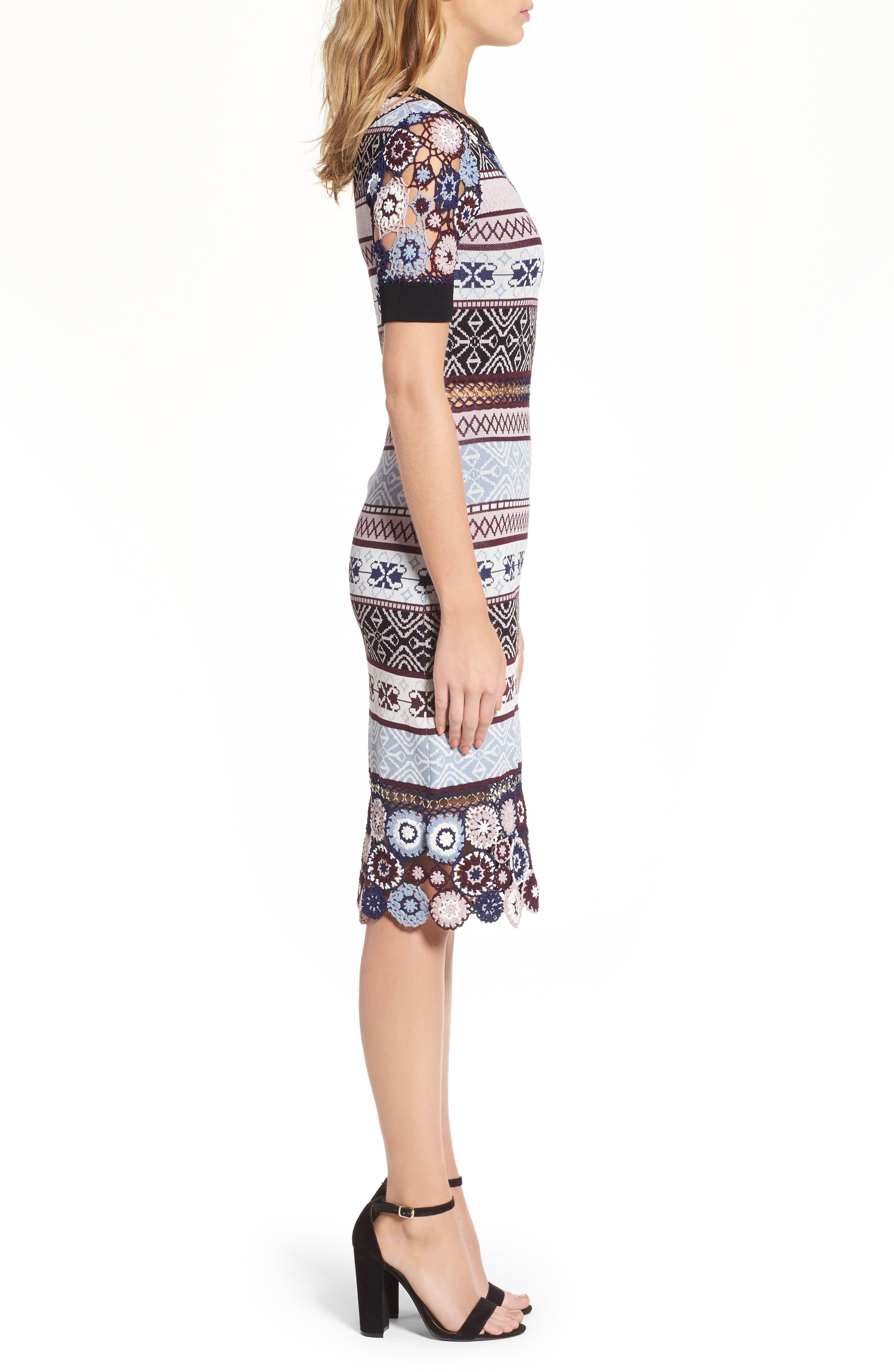 Alternate Image 3  - Parker Carol Crochet Pencil Dress
