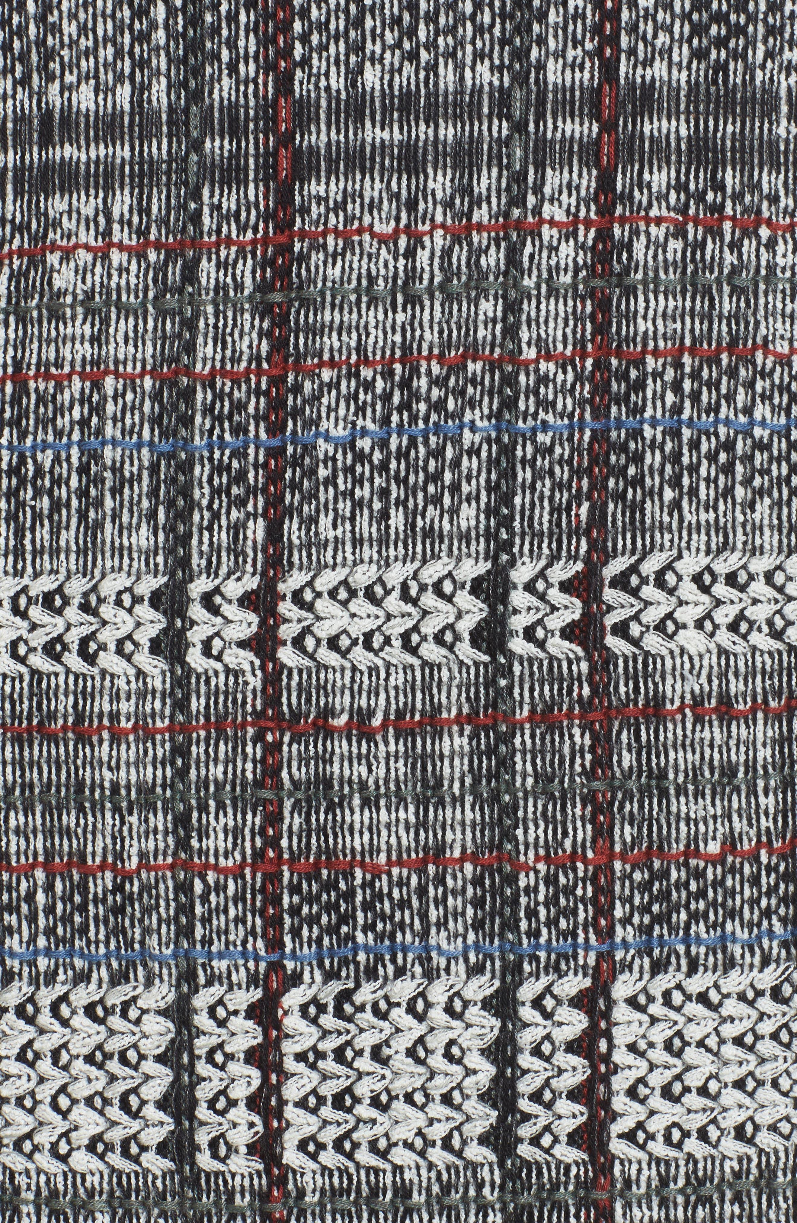 Checked Fringe Skirt,                             Alternate thumbnail 5, color,                             Multi