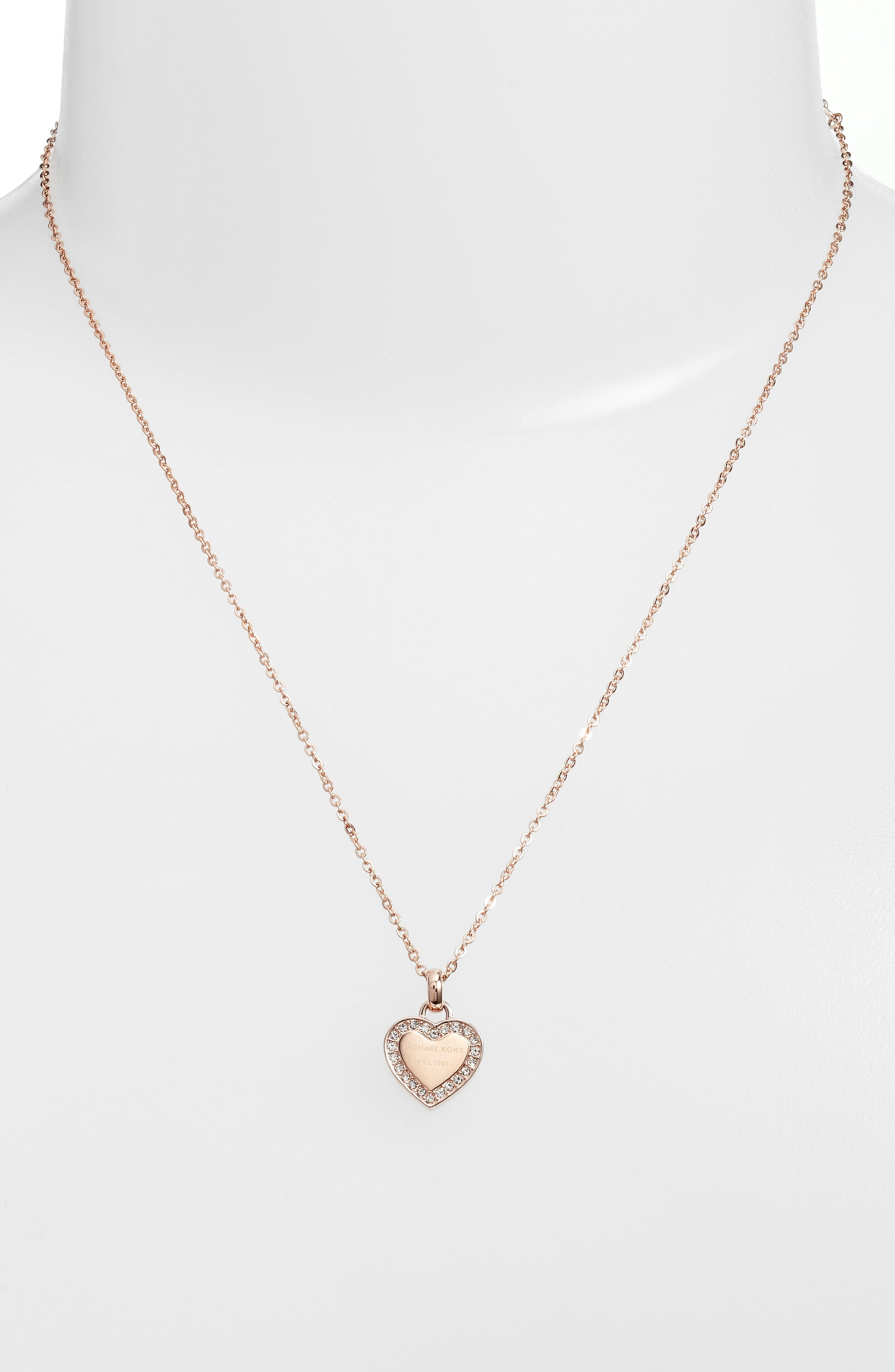 Main Image - Michael Kors Heart Pendant Necklace