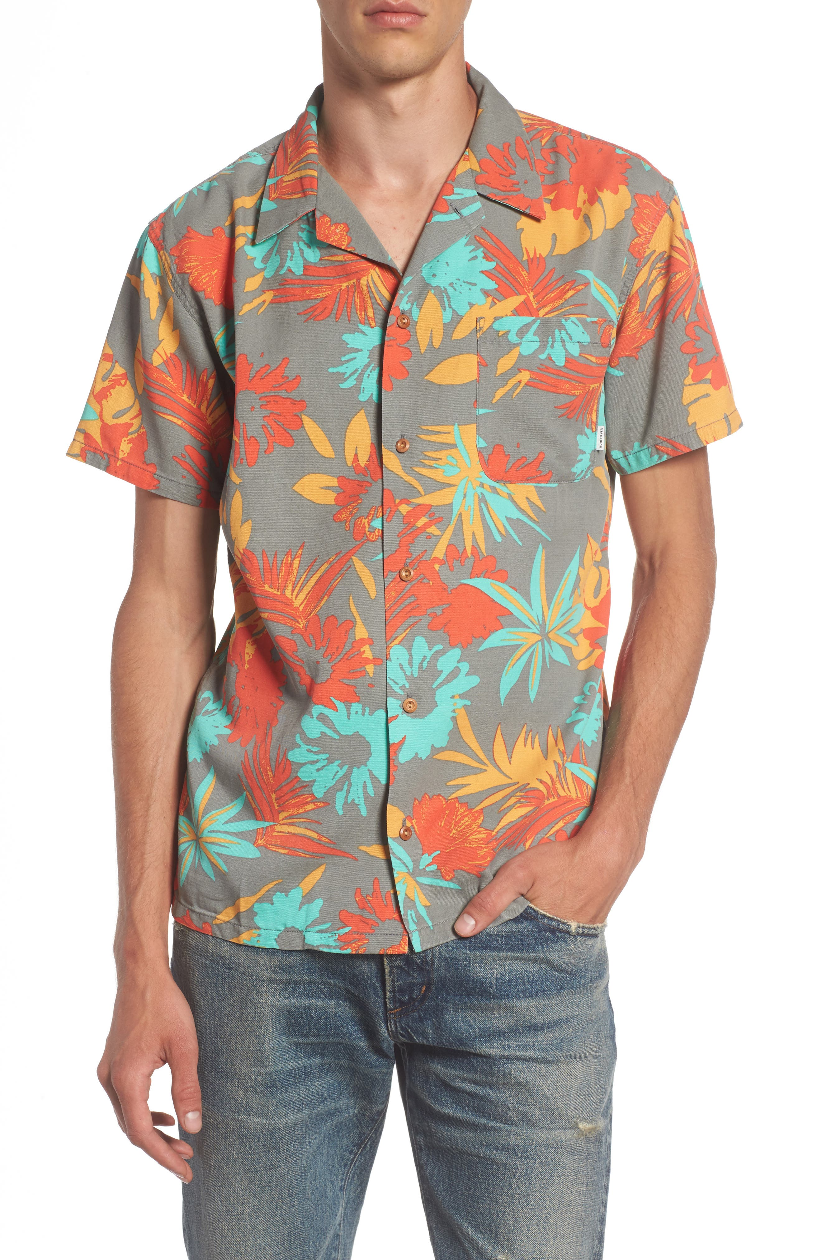 Desert Trip Print Shirt,                             Main thumbnail 1, color,                             Quiet Shade