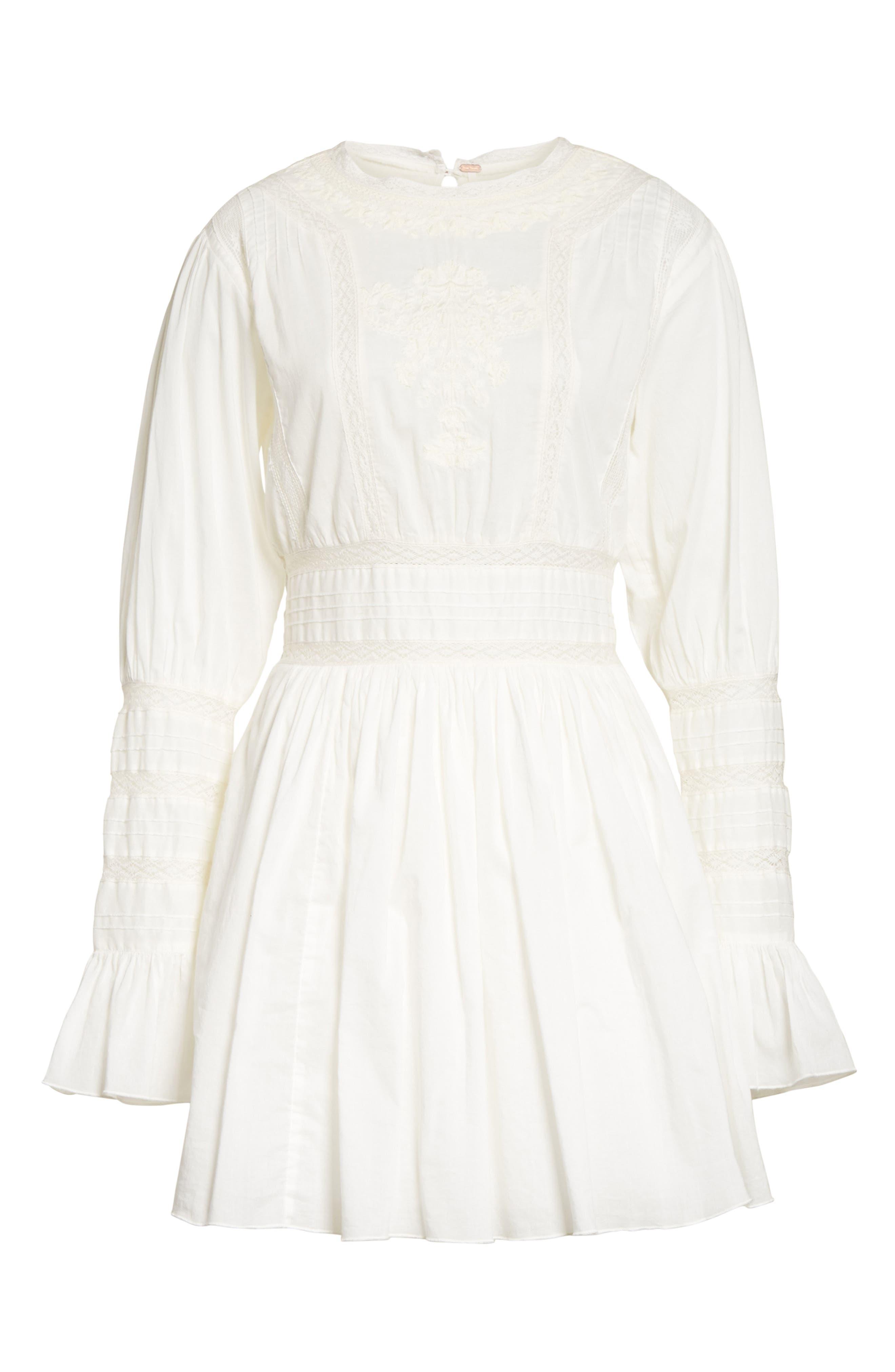 Victorian Minidress,                             Alternate thumbnail 6, color,                             Ivory