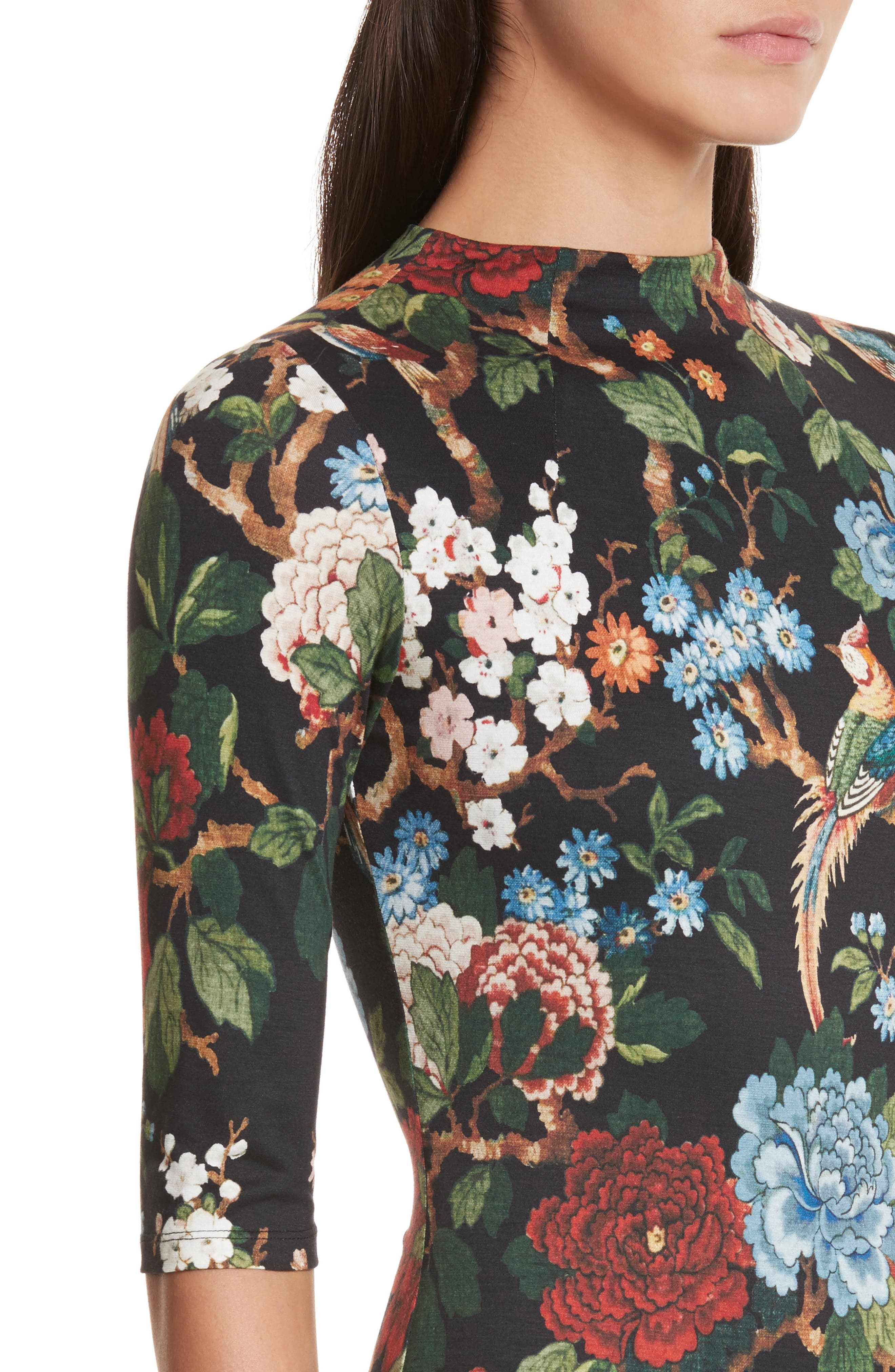 Alternate Image 4  - Alice + Olivia Delora Print Fitted Midi Dress