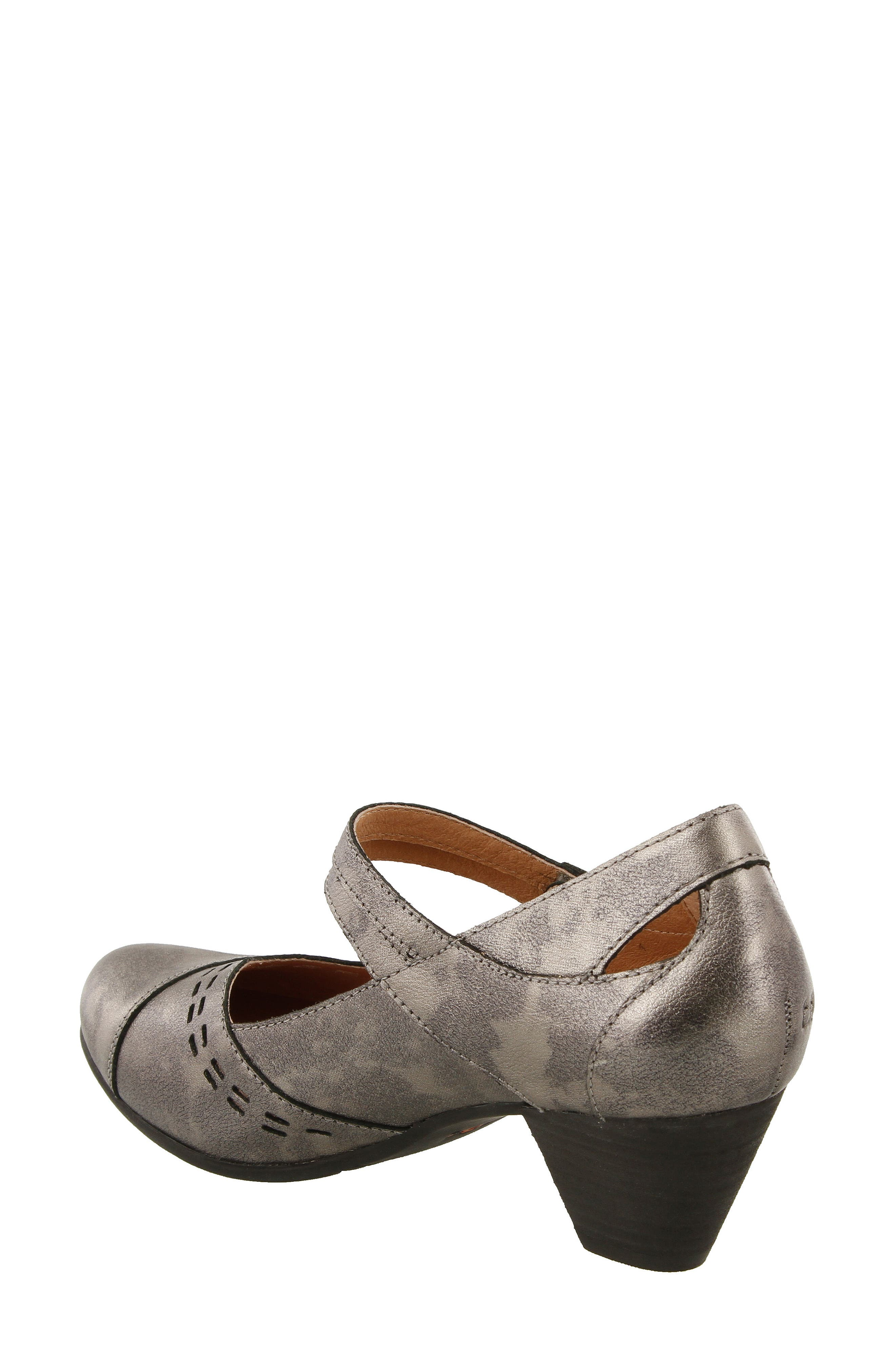 Stunner Laser Cutout Mary Jane Pump,                             Alternate thumbnail 2, color,                             Pewter Leather
