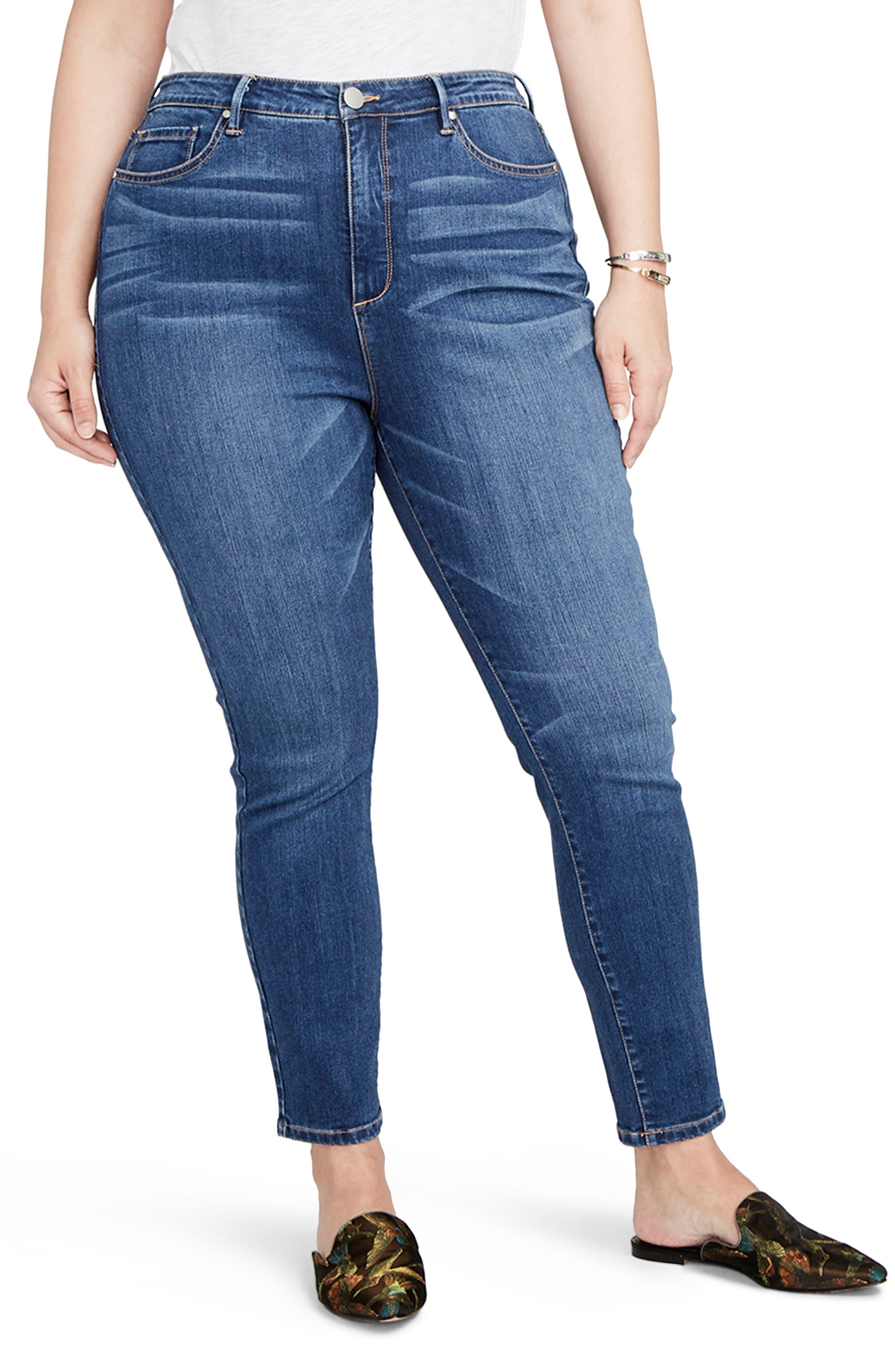 Main Image - RACHEL Rachel Roy Curvy High Rise Skinny Jeans (Plus Size)