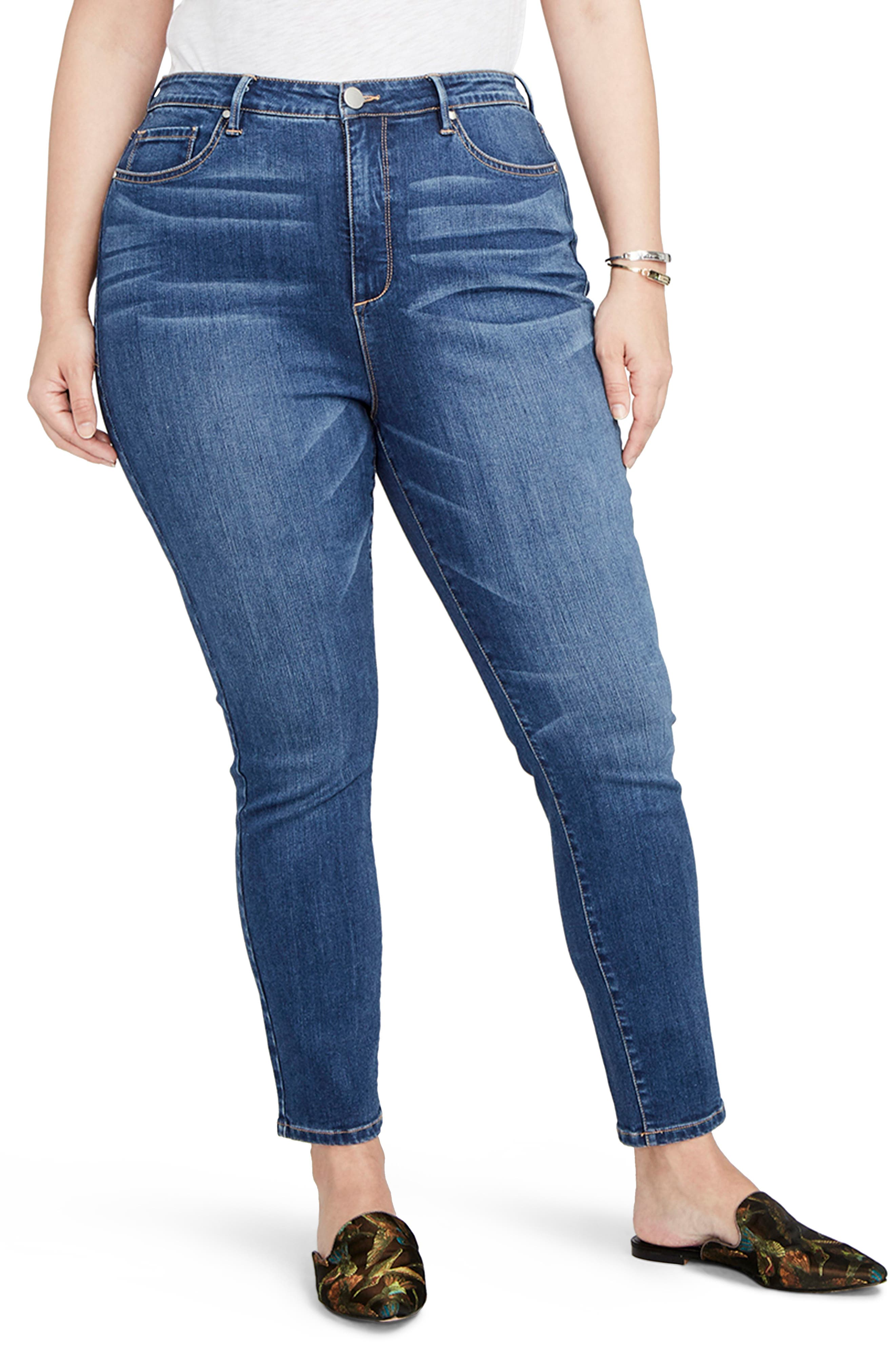 RACHEL Rachel Roy Curvy High Rise Skinny Jeans (Plus Size)