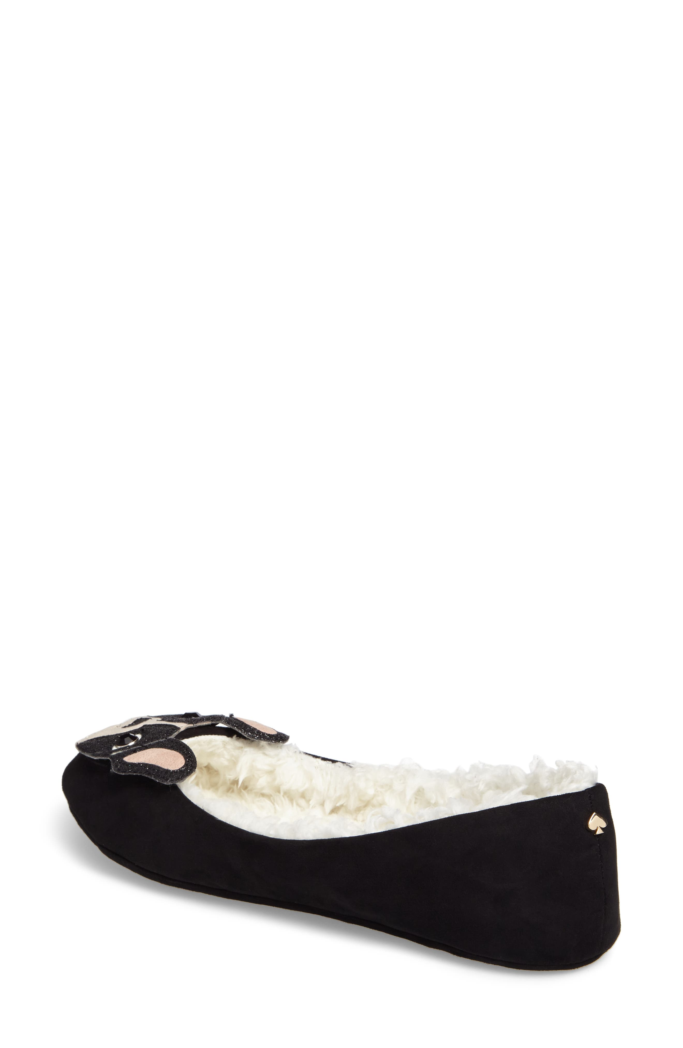 seymour slipper,                             Alternate thumbnail 2, color,                             Black Micro Suede