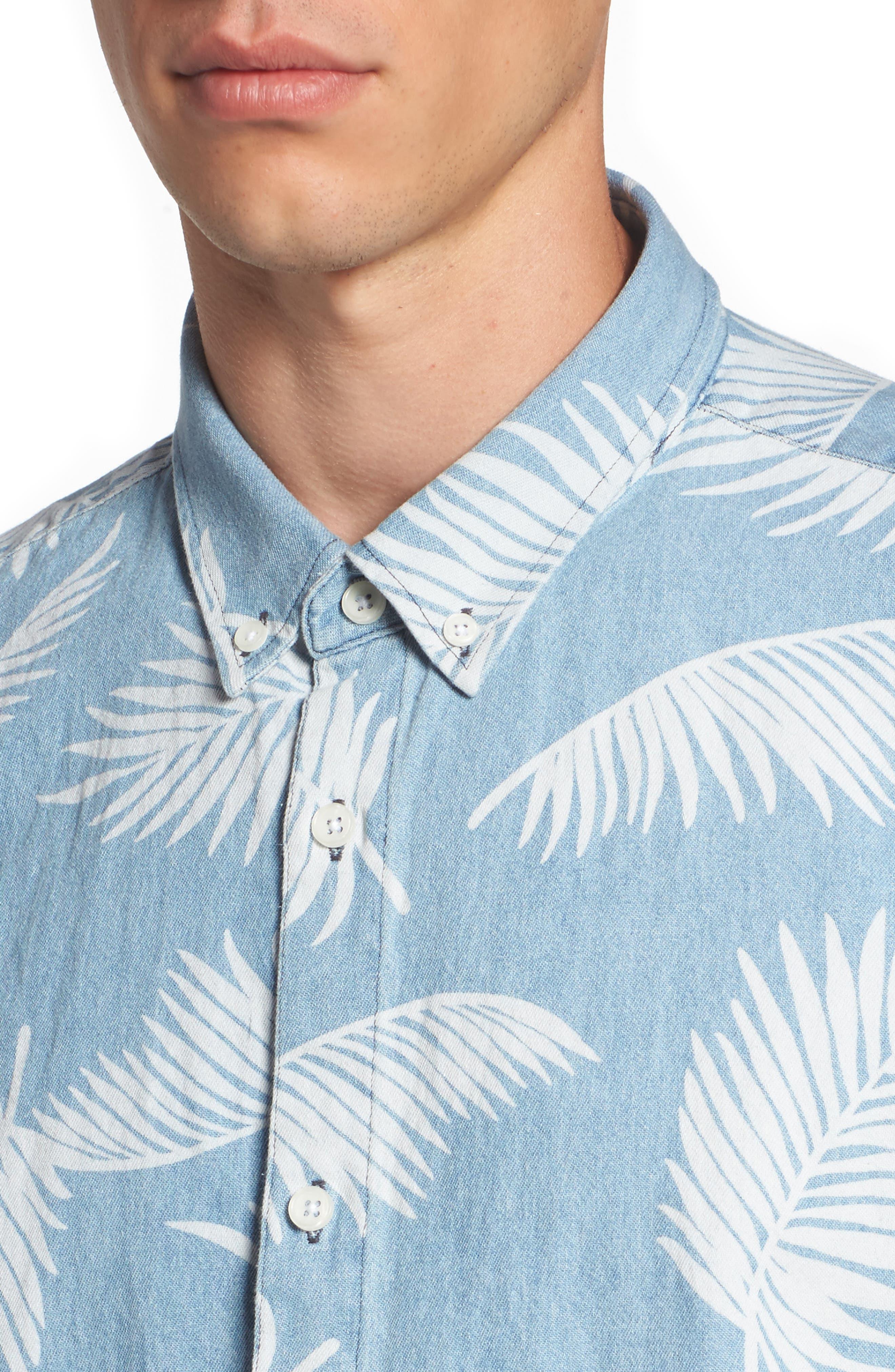 Bahamas Shirt,                             Alternate thumbnail 4, color,                             Indigo/ Floral
