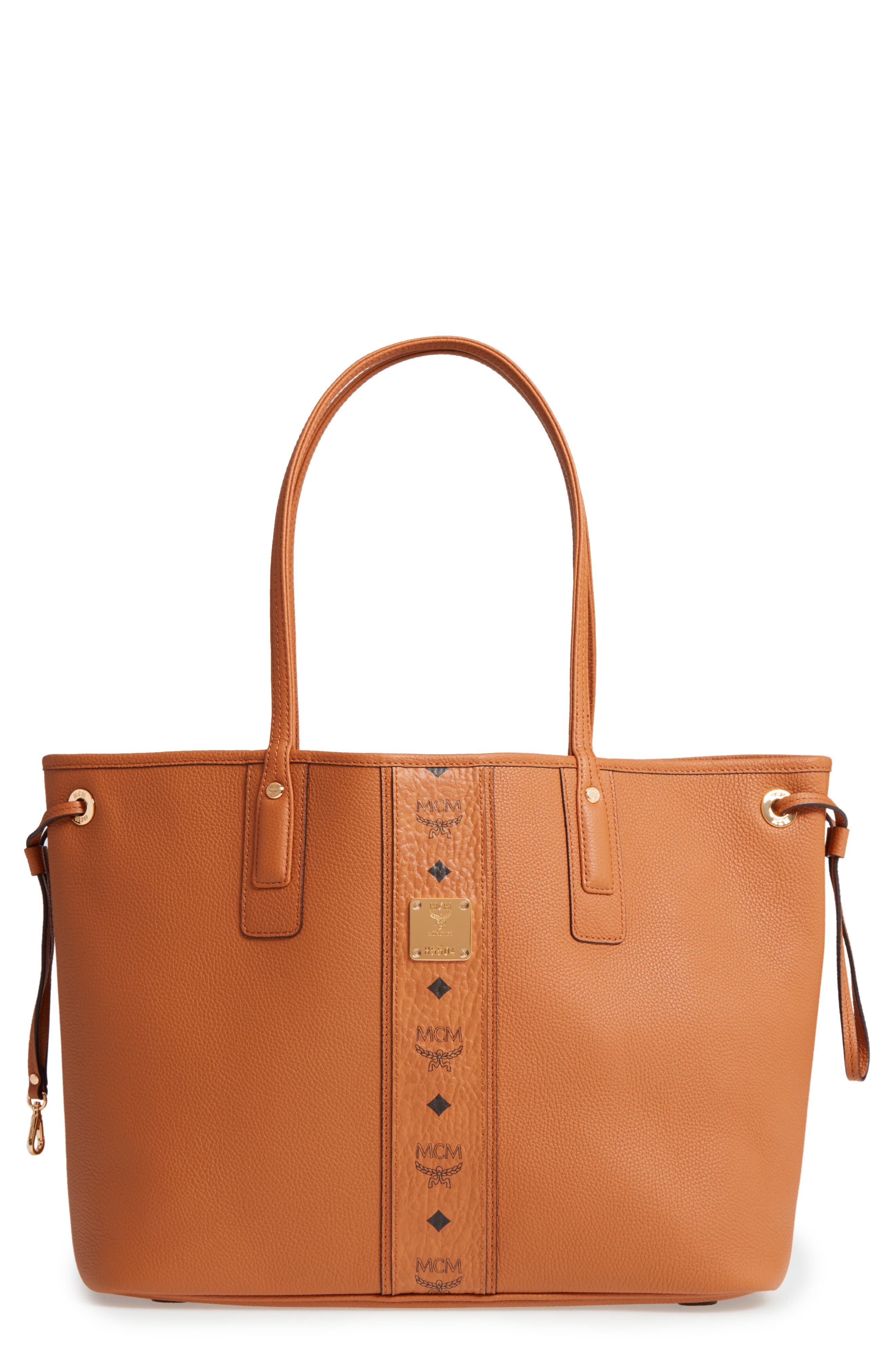 MCM Medium Liz Reversible Visetos Leather Shopper