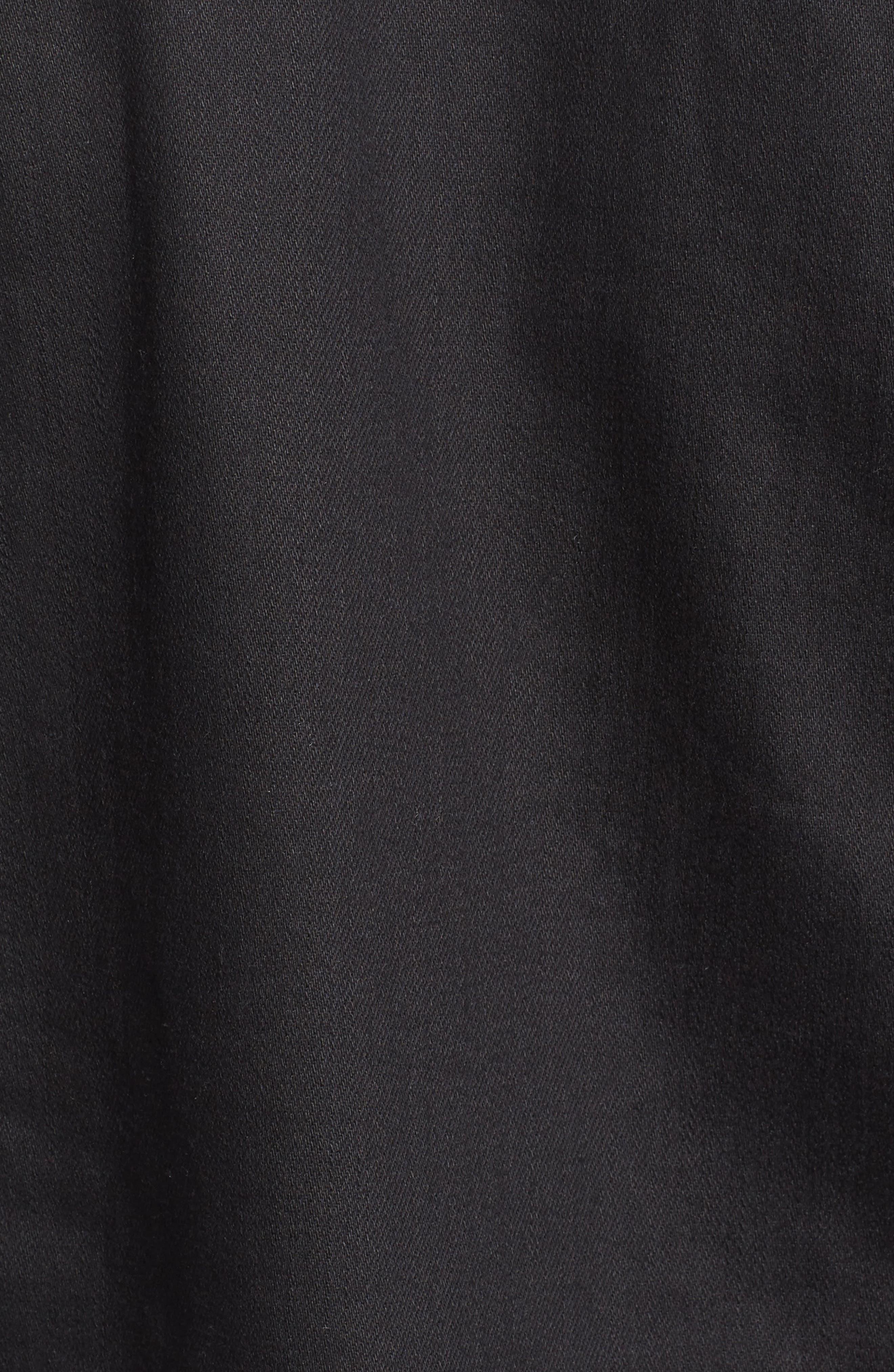 Dwight Denim Jacket,                             Alternate thumbnail 5, color,                             Black Damage
