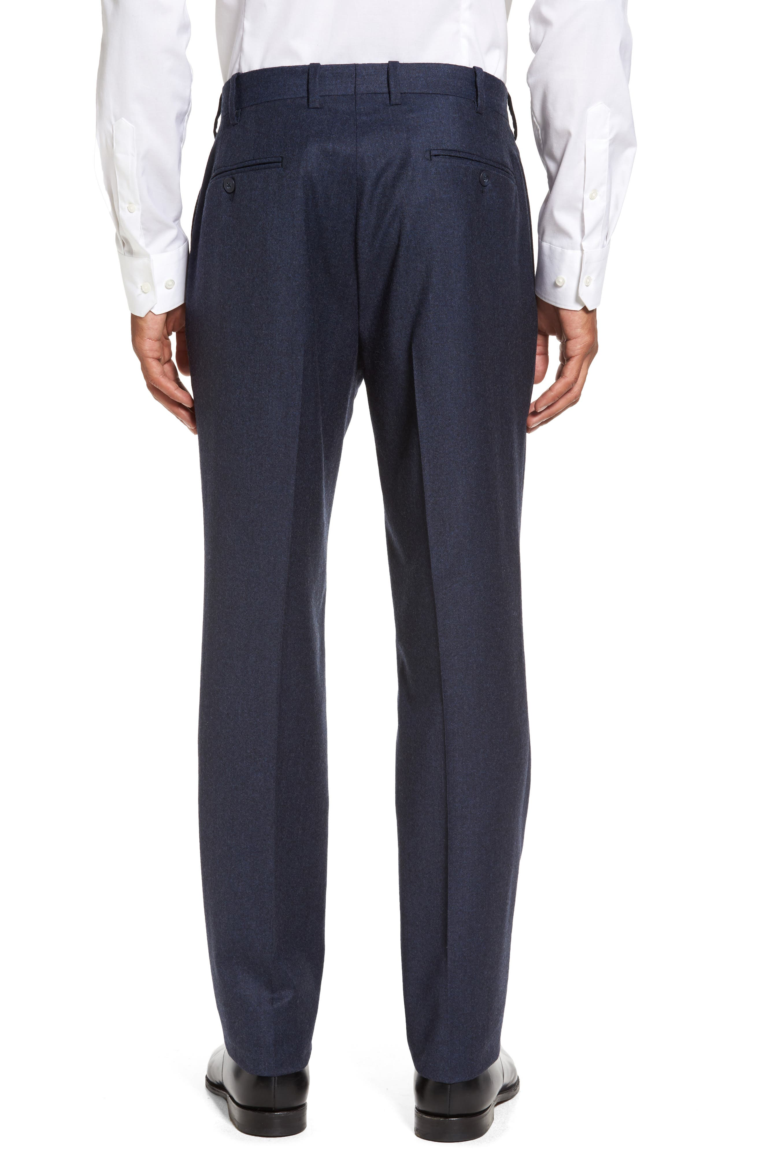 Alternate Image 2  - JB Britches Flat Front Solid Wool & Cashmere Trousers