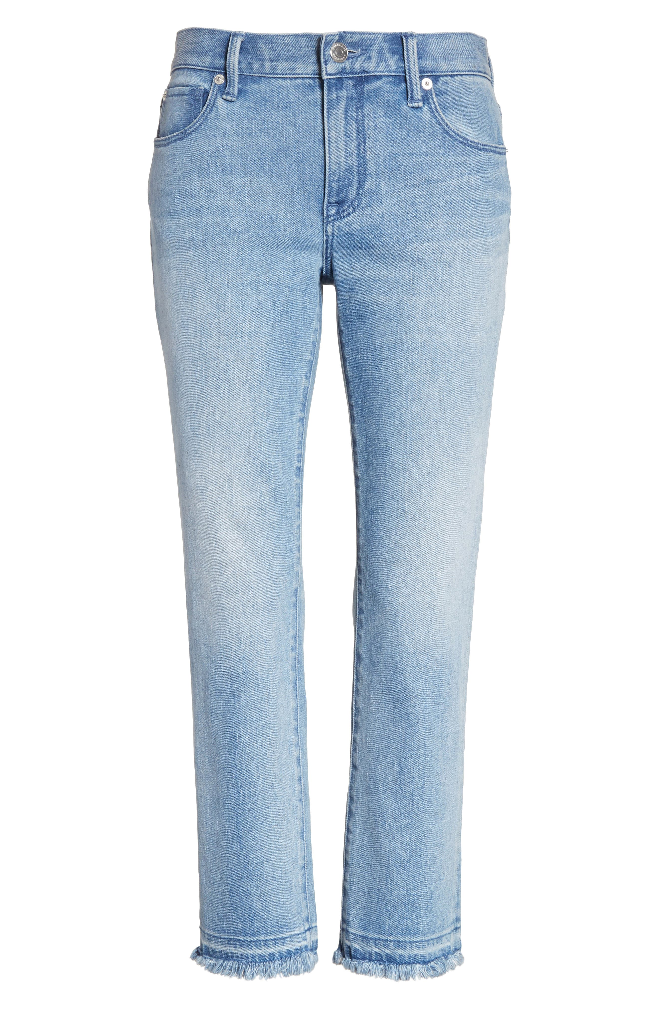 Relaxed Crop Jeans,                             Alternate thumbnail 6, color,                             Pale Blue