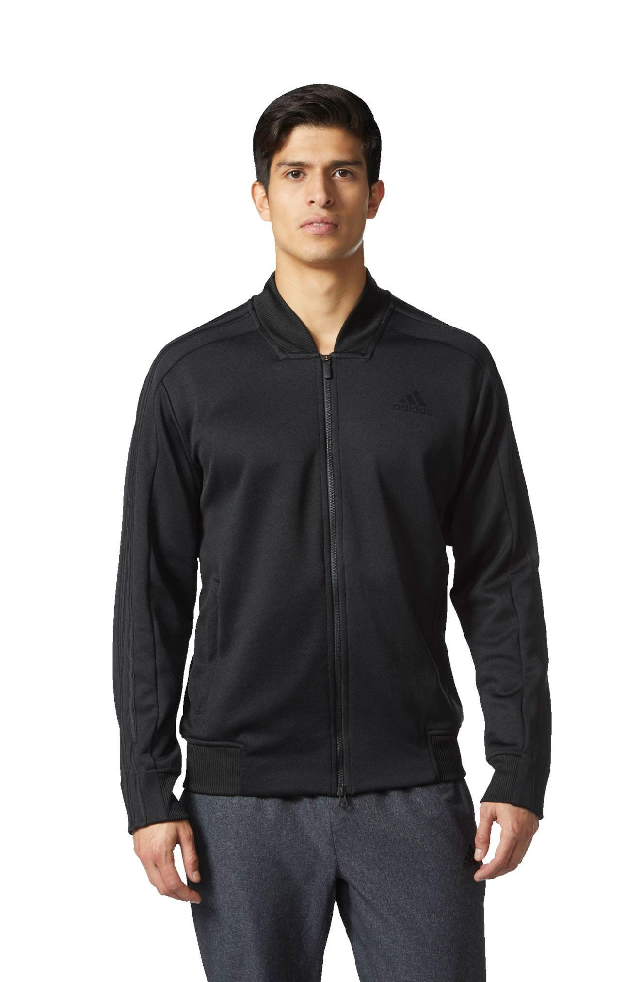Sport ID Track Bomber Jacket,                             Alternate thumbnail 5, color,                             Black