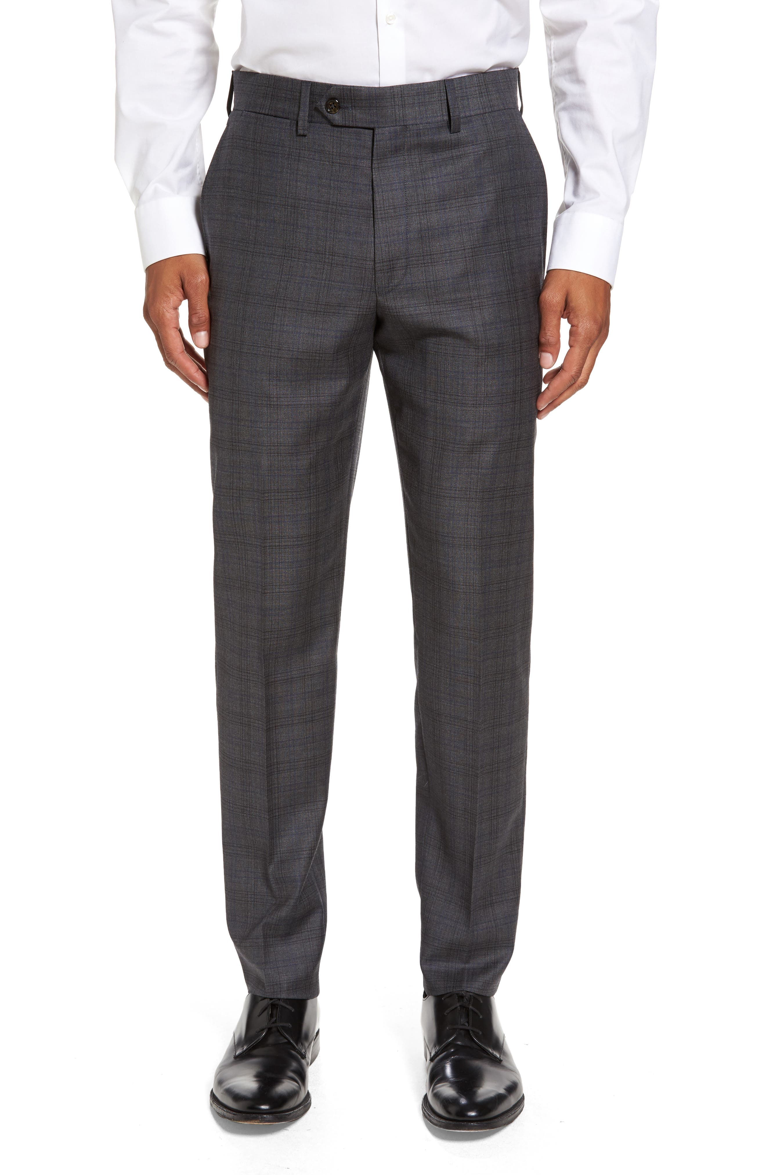 Todd Snyder White Label Sutton Flat Front Plaid Wool Trousers