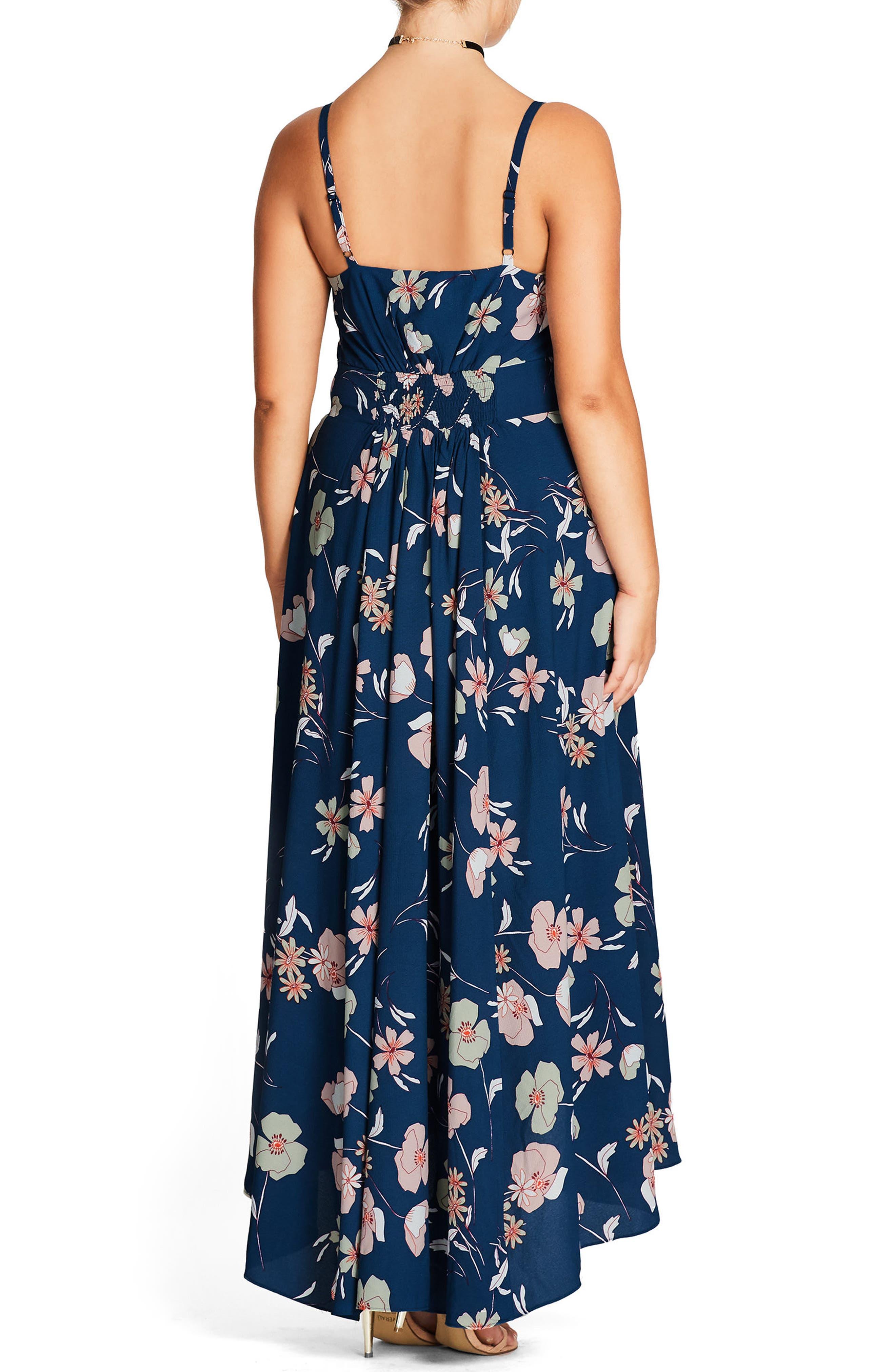 Alternate Image 2  - City Chic Naive Floral Maxi Dress (Plus Size)