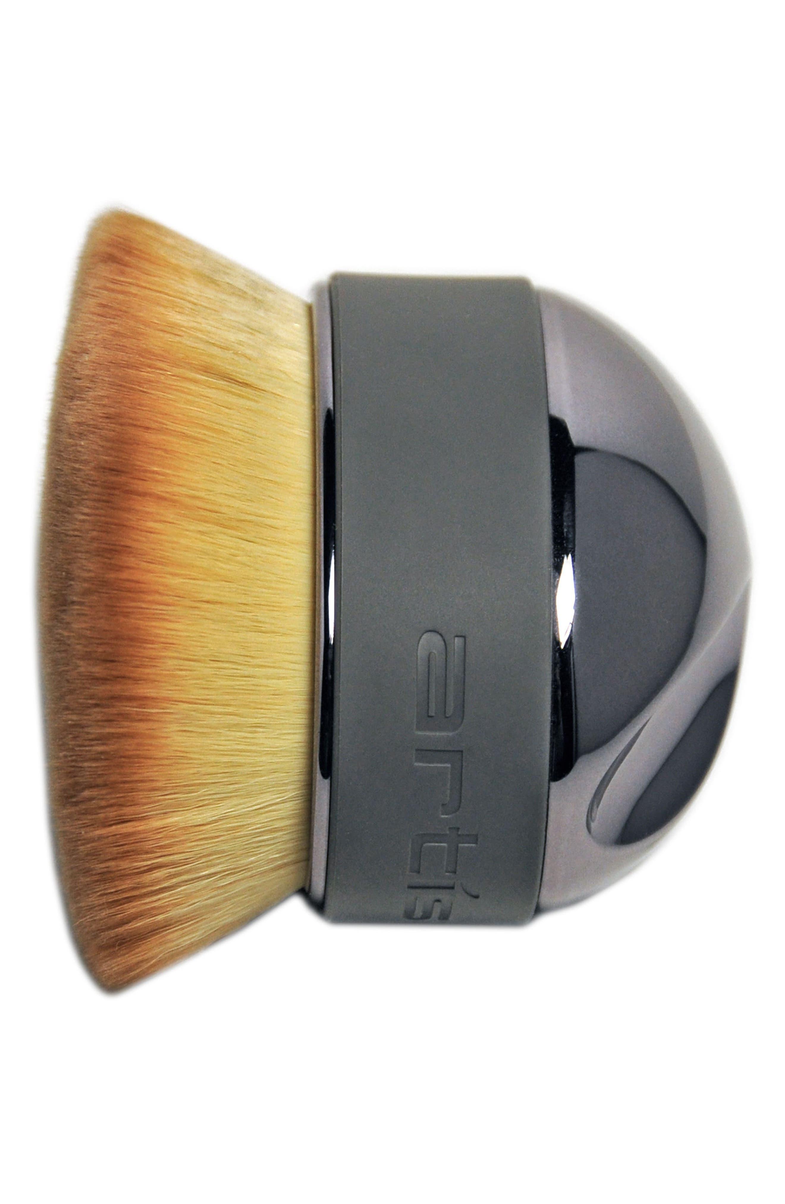 Elite Smoke Palm Brush,                             Alternate thumbnail 2, color,                             Smoke
