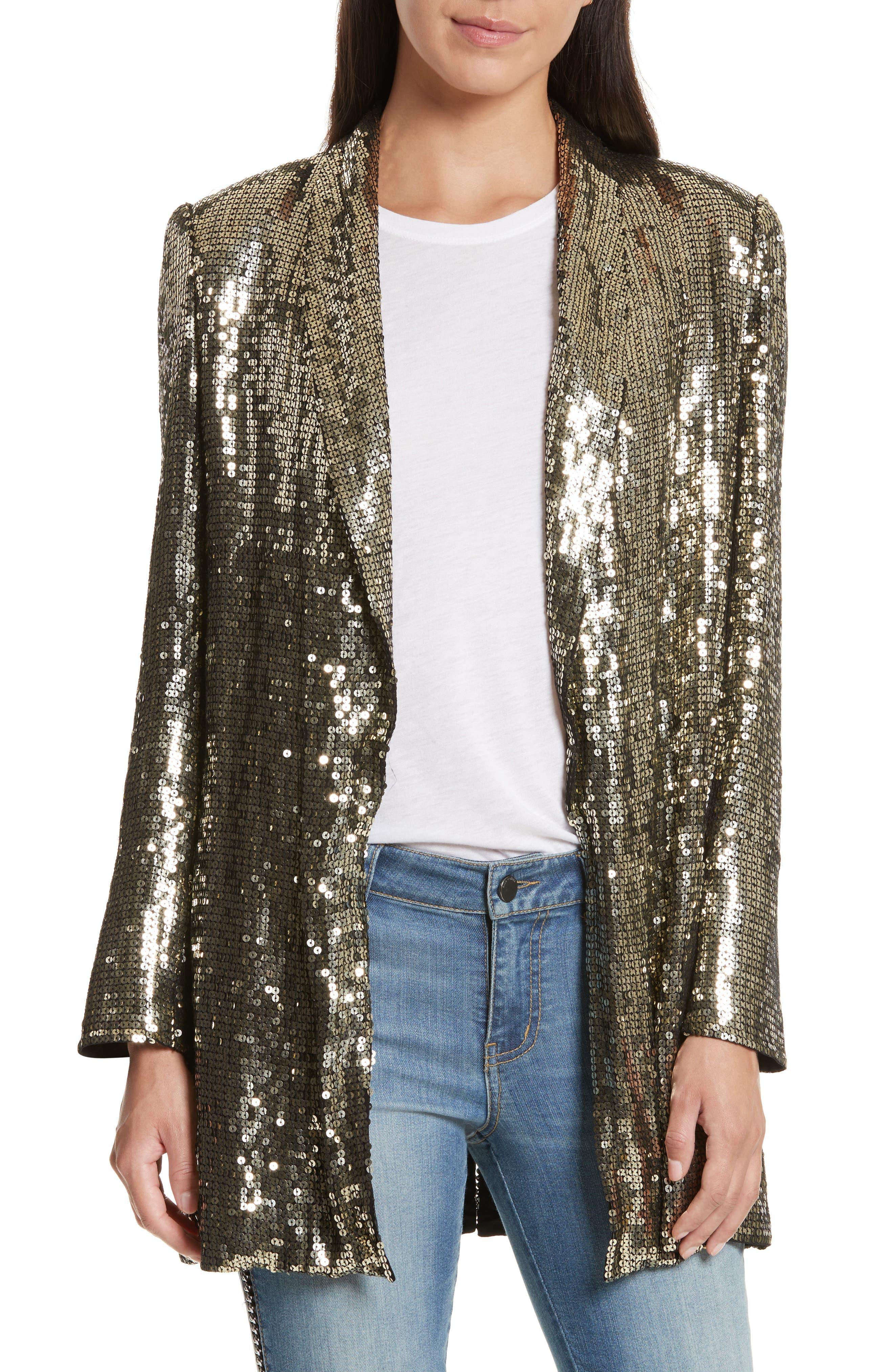 Main Image - Alice + Olivia Jace Sequin Embellished Blazer