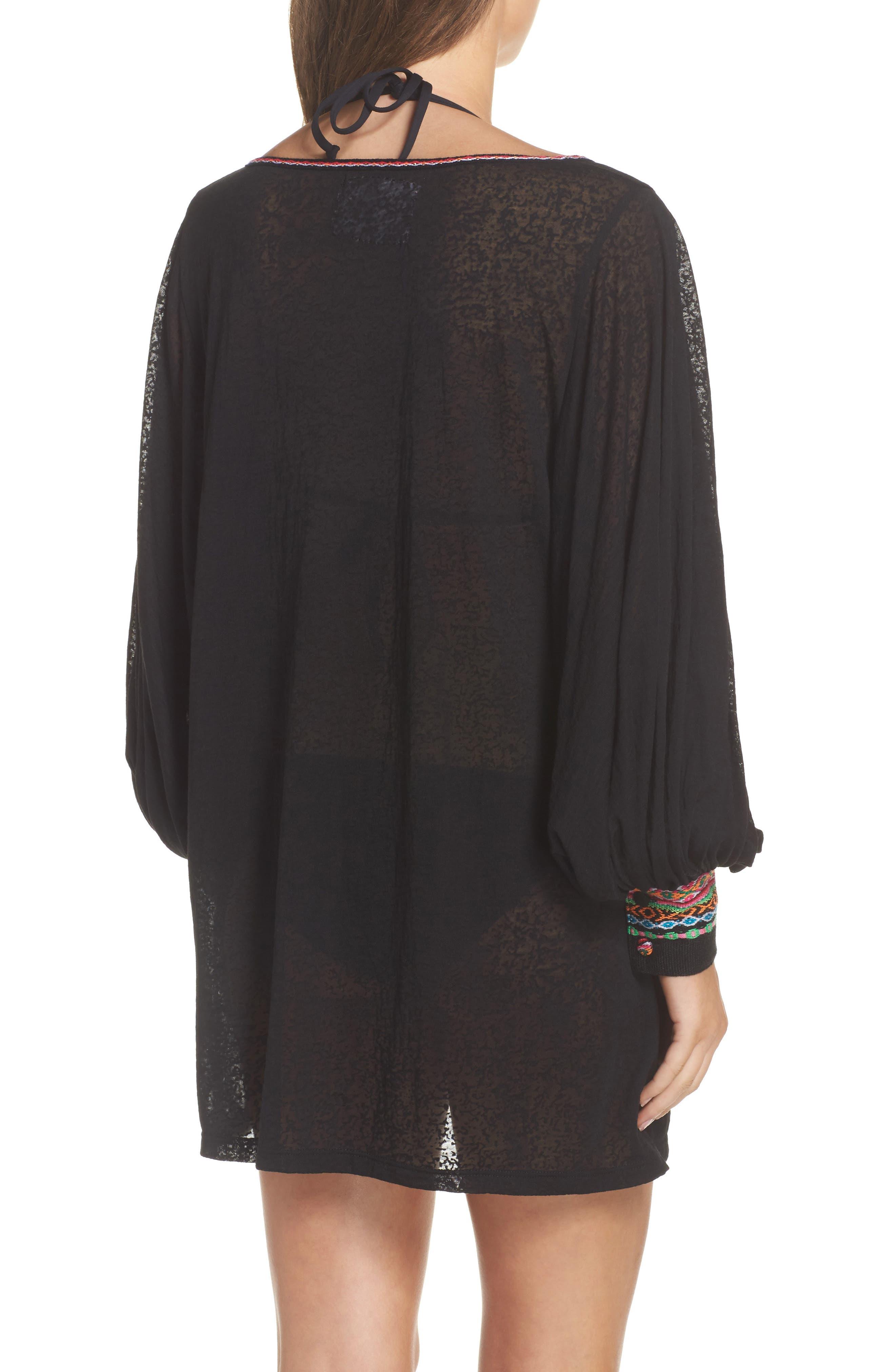 Inca Cover-Up Dress,                             Alternate thumbnail 2, color,                             Black