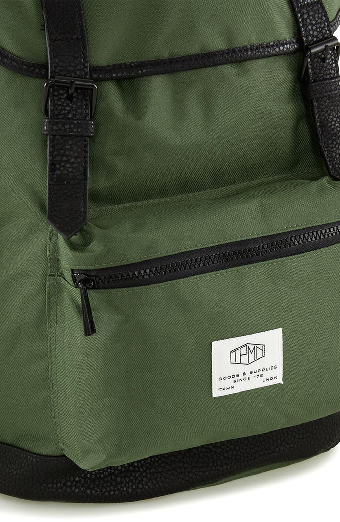 Alternate Image 3  - Topman Explorer Flap Top Backpack