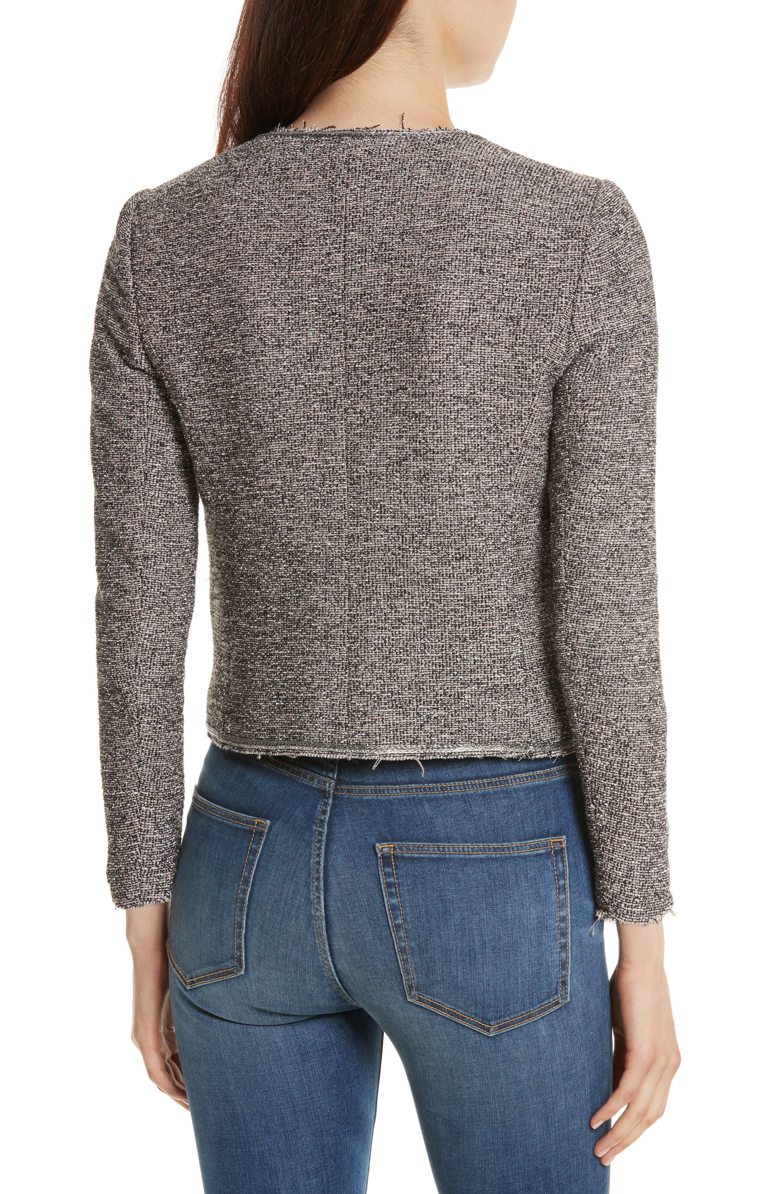Embellished Stretch Tweed Jacket,                             Alternate thumbnail 2, color,                             Nude Combo