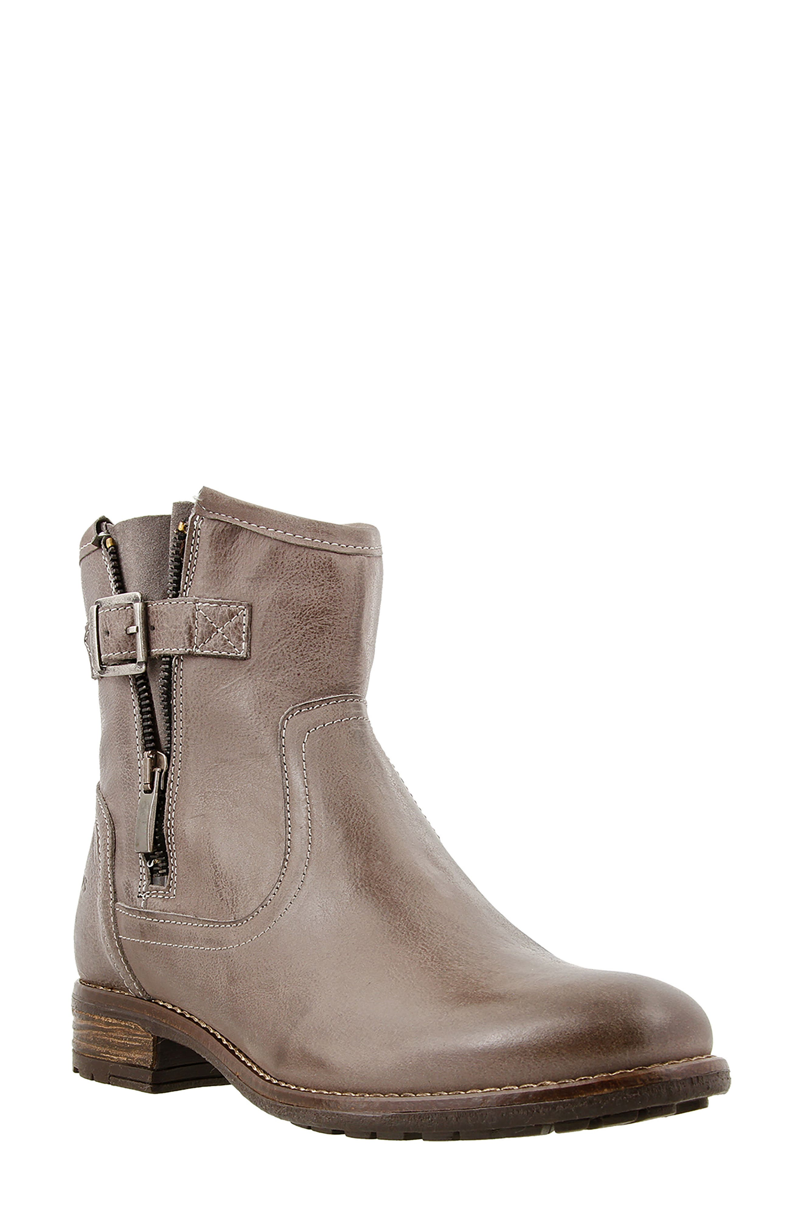 Convoy Boot,                             Main thumbnail 1, color,                             Grey Leather