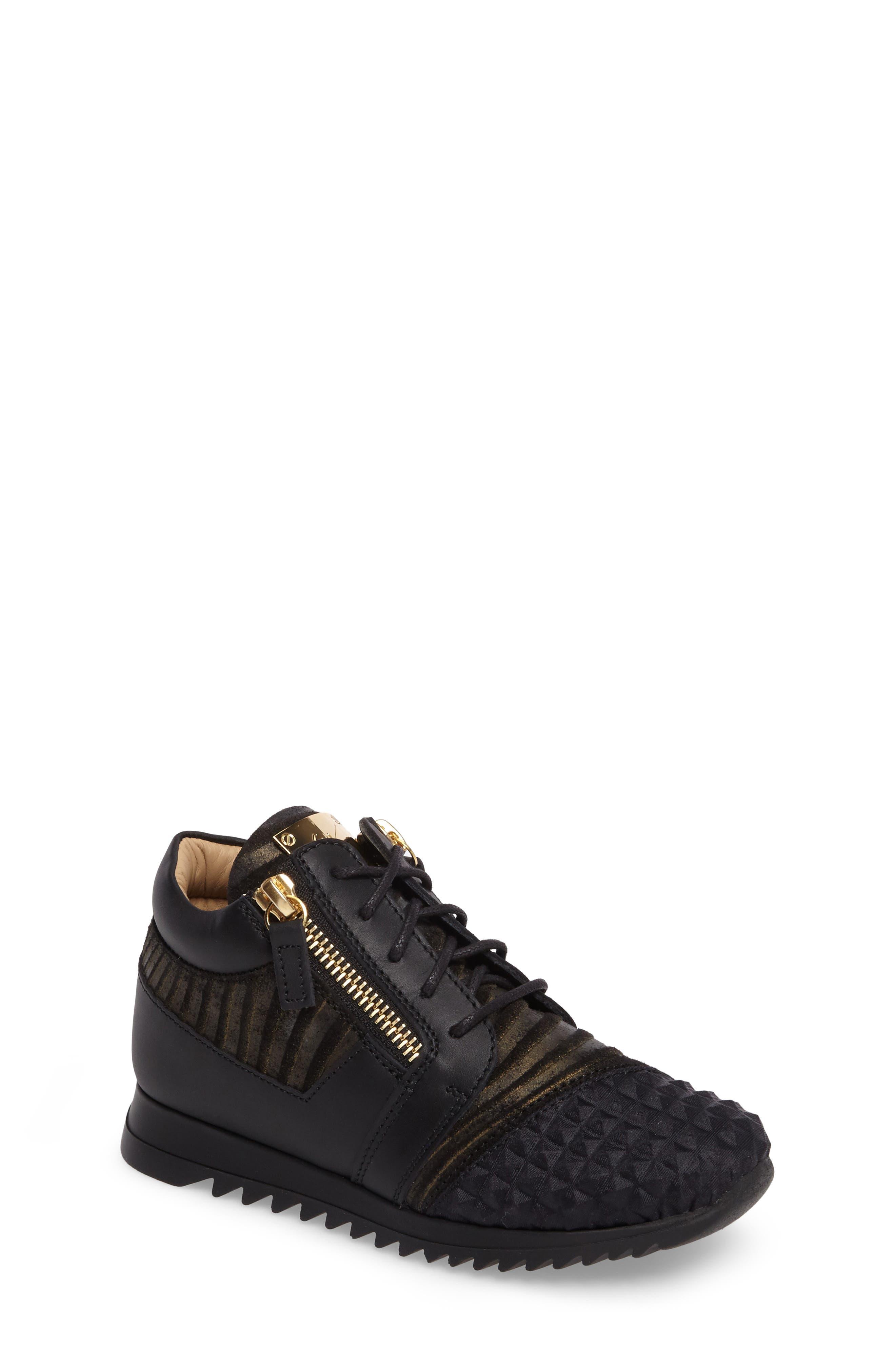 Giuseppe Zanotti Iperstud Embossed Sneaker (Baby, Walker, Toddler & Little Kid)