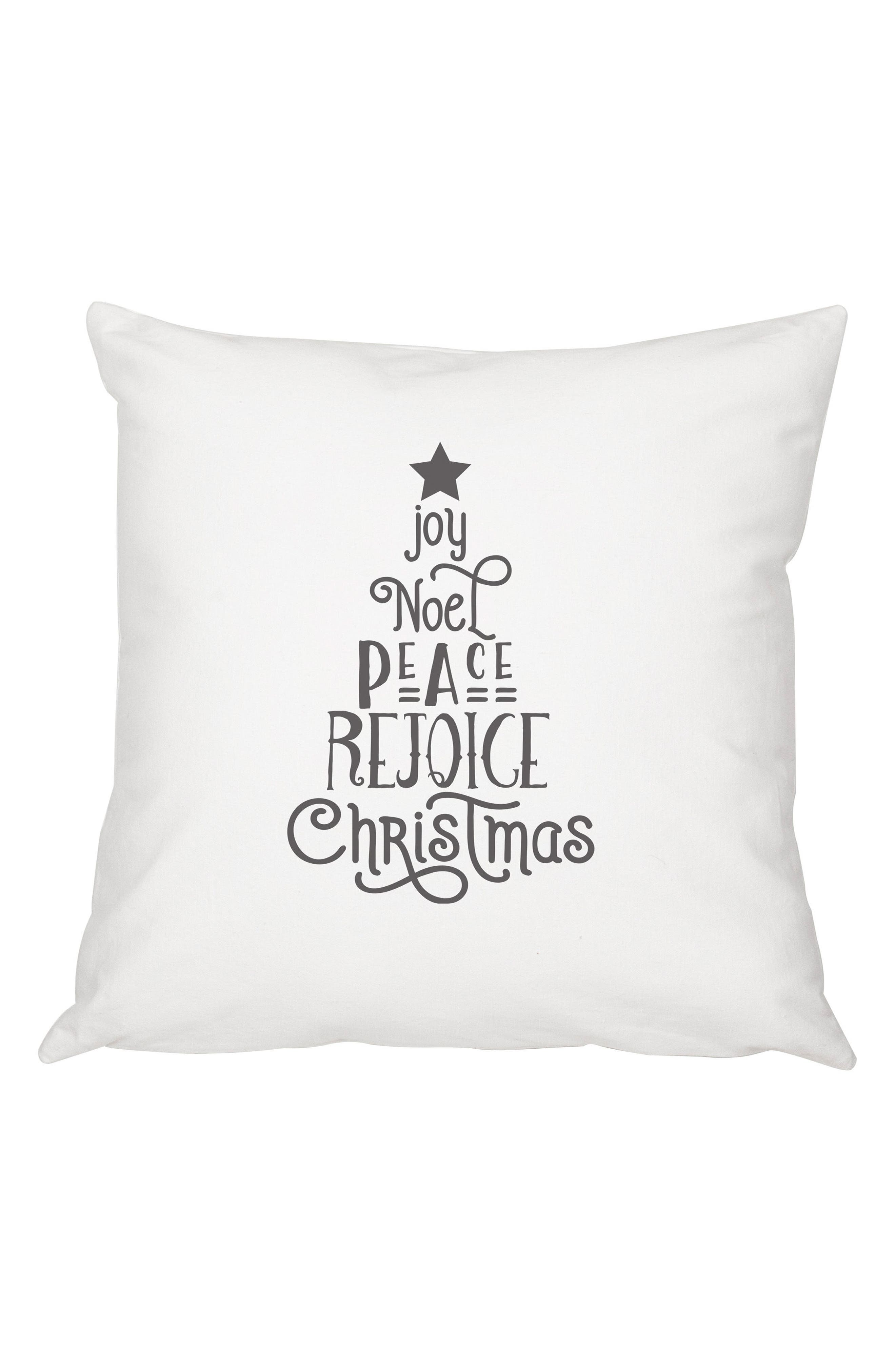 Christmas Tree Accent Pillow,                         Main,                         color, Grey