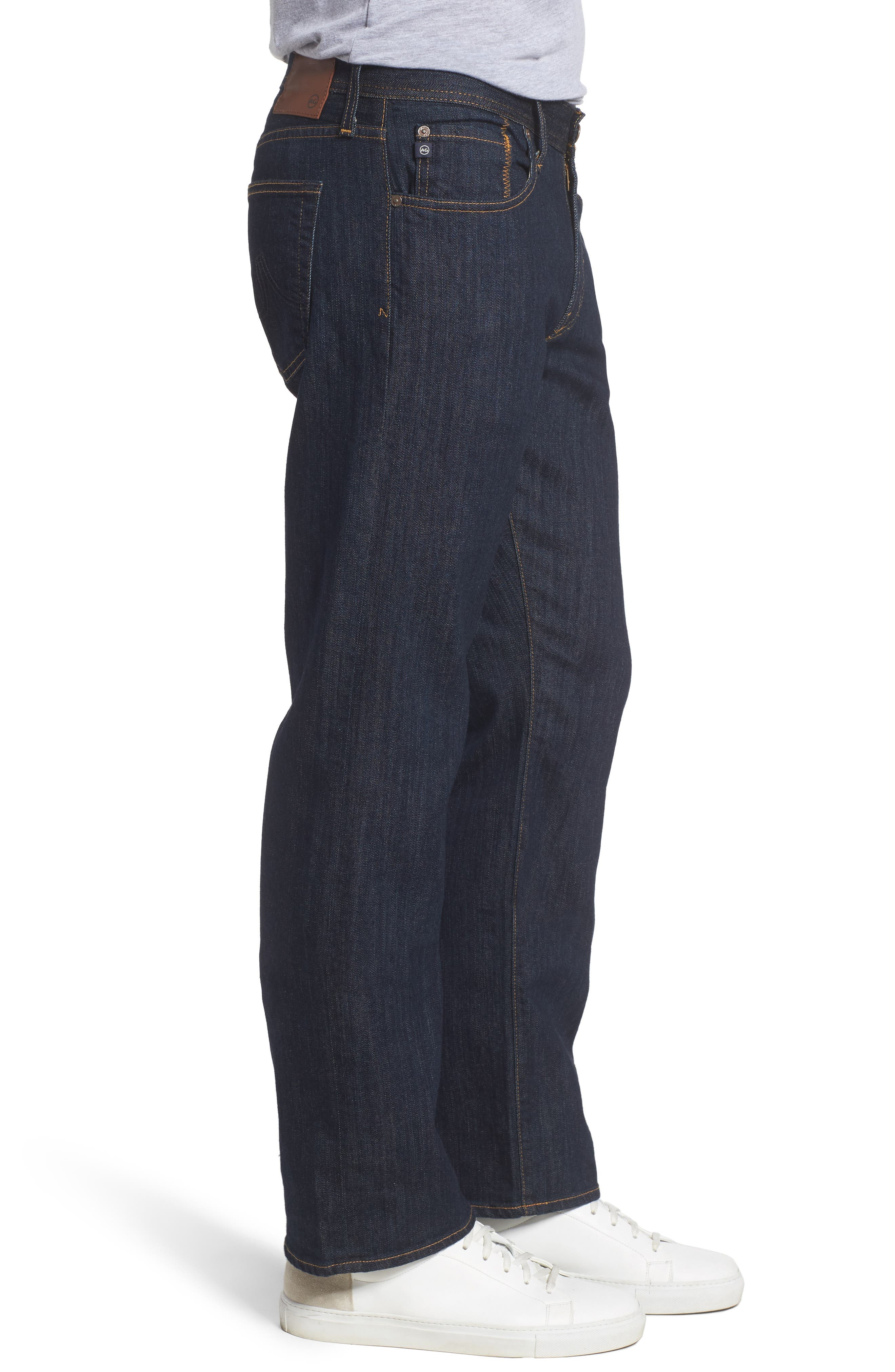 'Protégé' Straight Leg Jeans,                             Alternate thumbnail 3, color,                             Blake