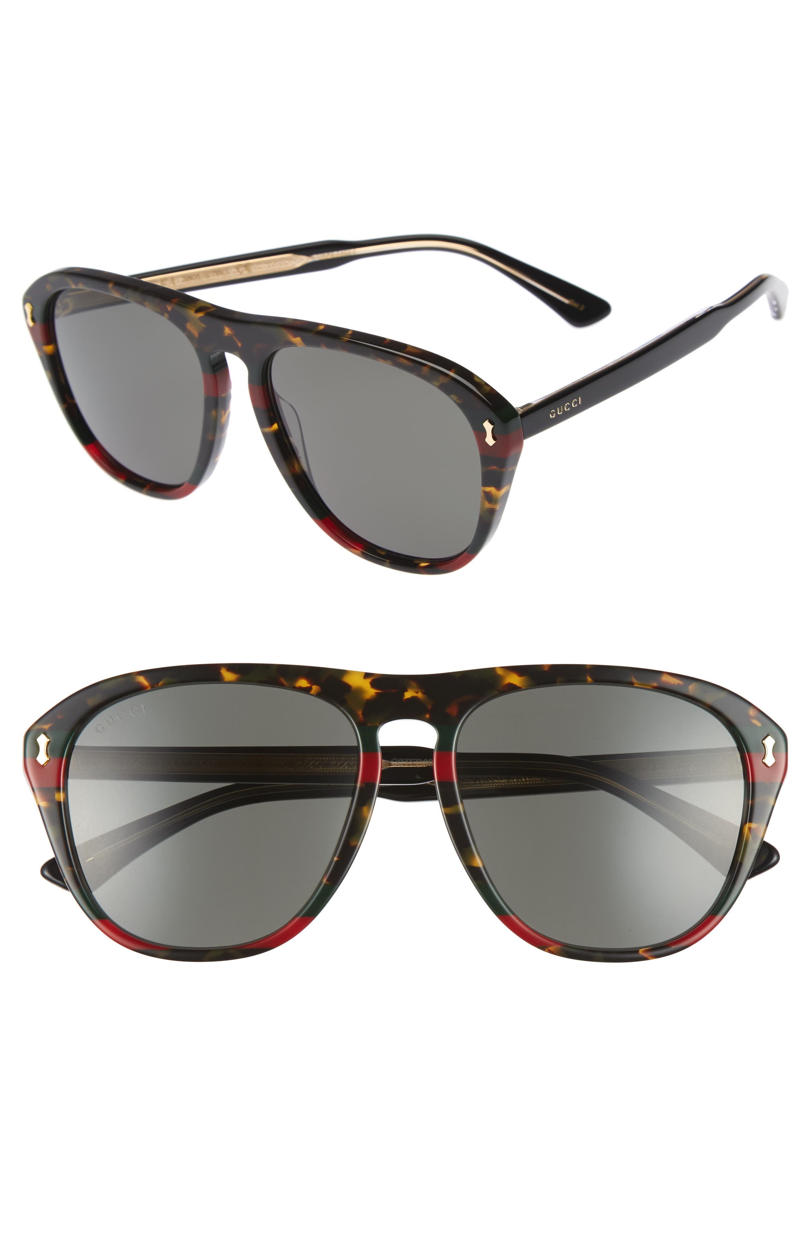 Alternate Image 1 Selected - Gucci 56mm Sunglasses