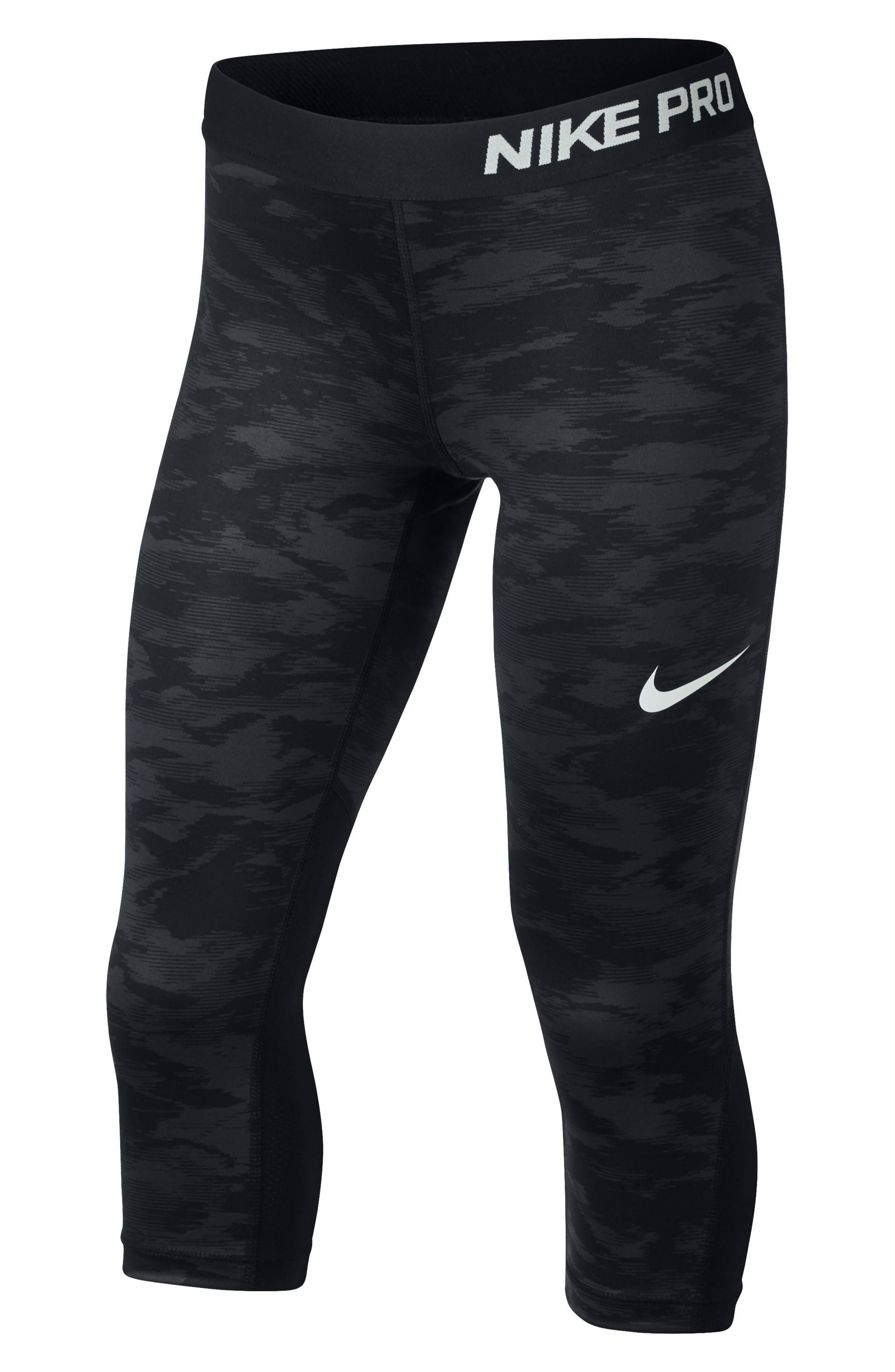 Pro Cool Crop Leggings,                         Main,                         color, Black/ Pure Platinum