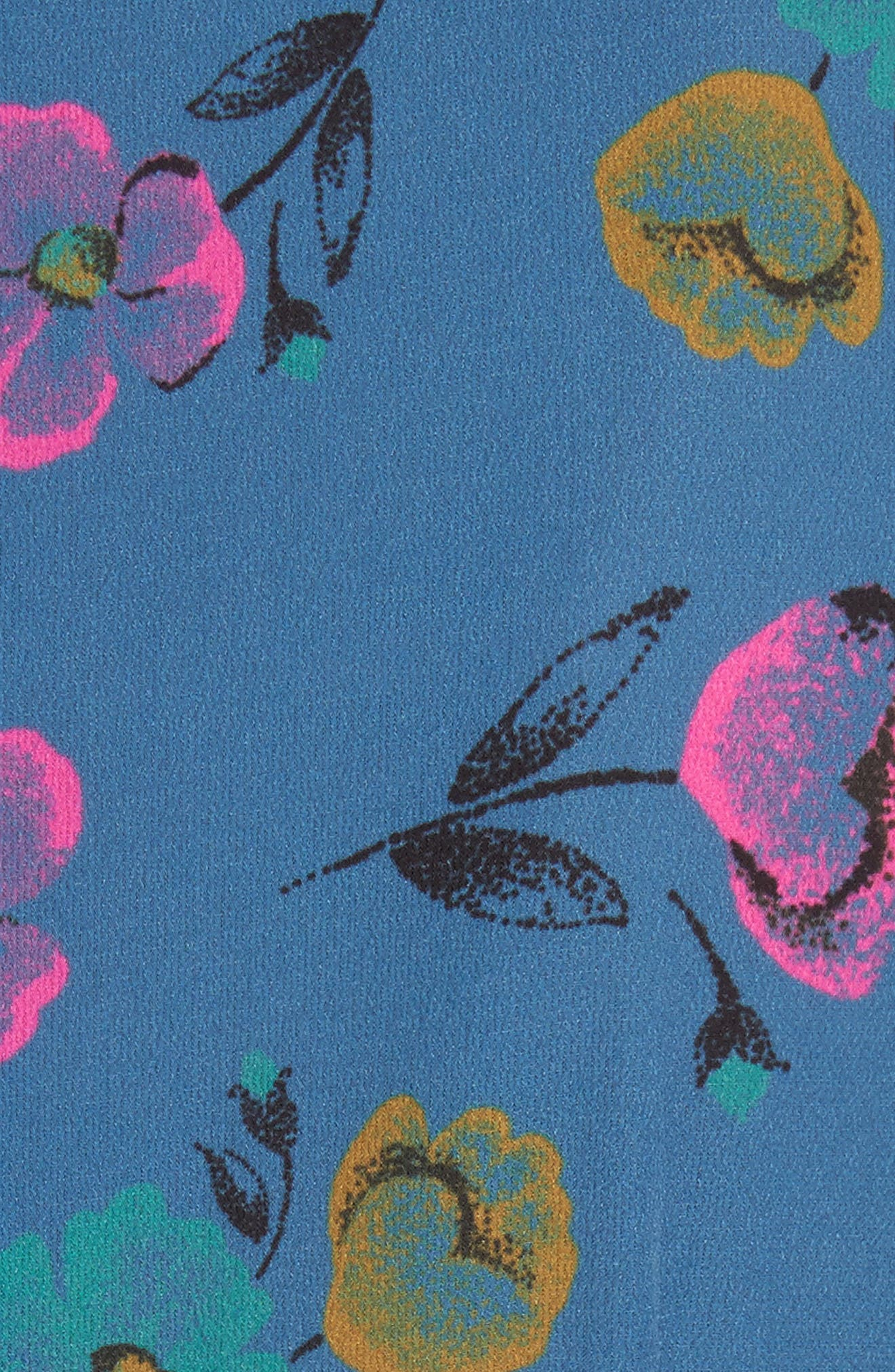 Alternate Image 5  - RED Valentino Anemone Floral Print Crepe Dress