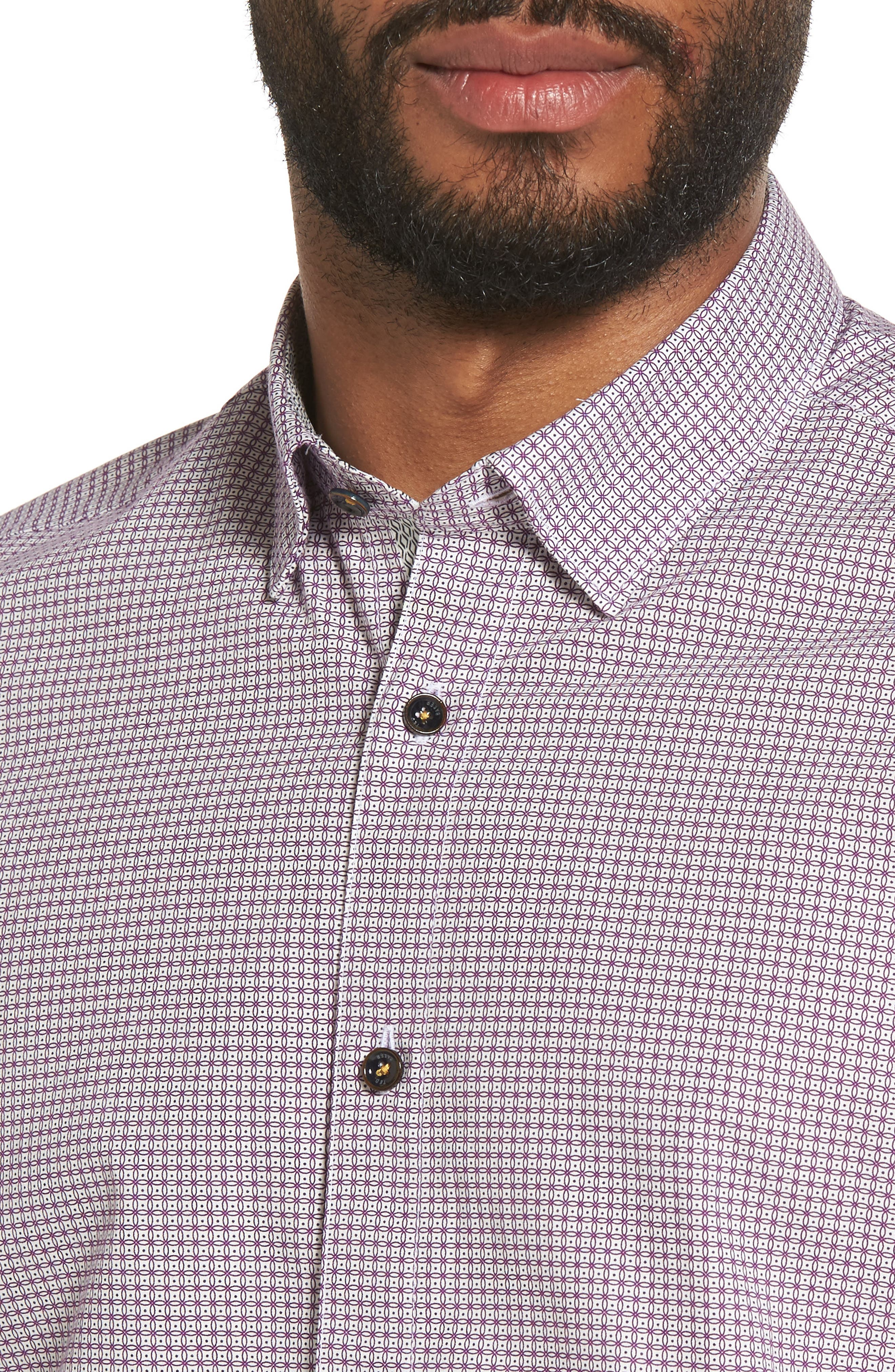 Alternate Image 4  - Ted Baker London Tennent Trim Fit Microprint Woven Shirt