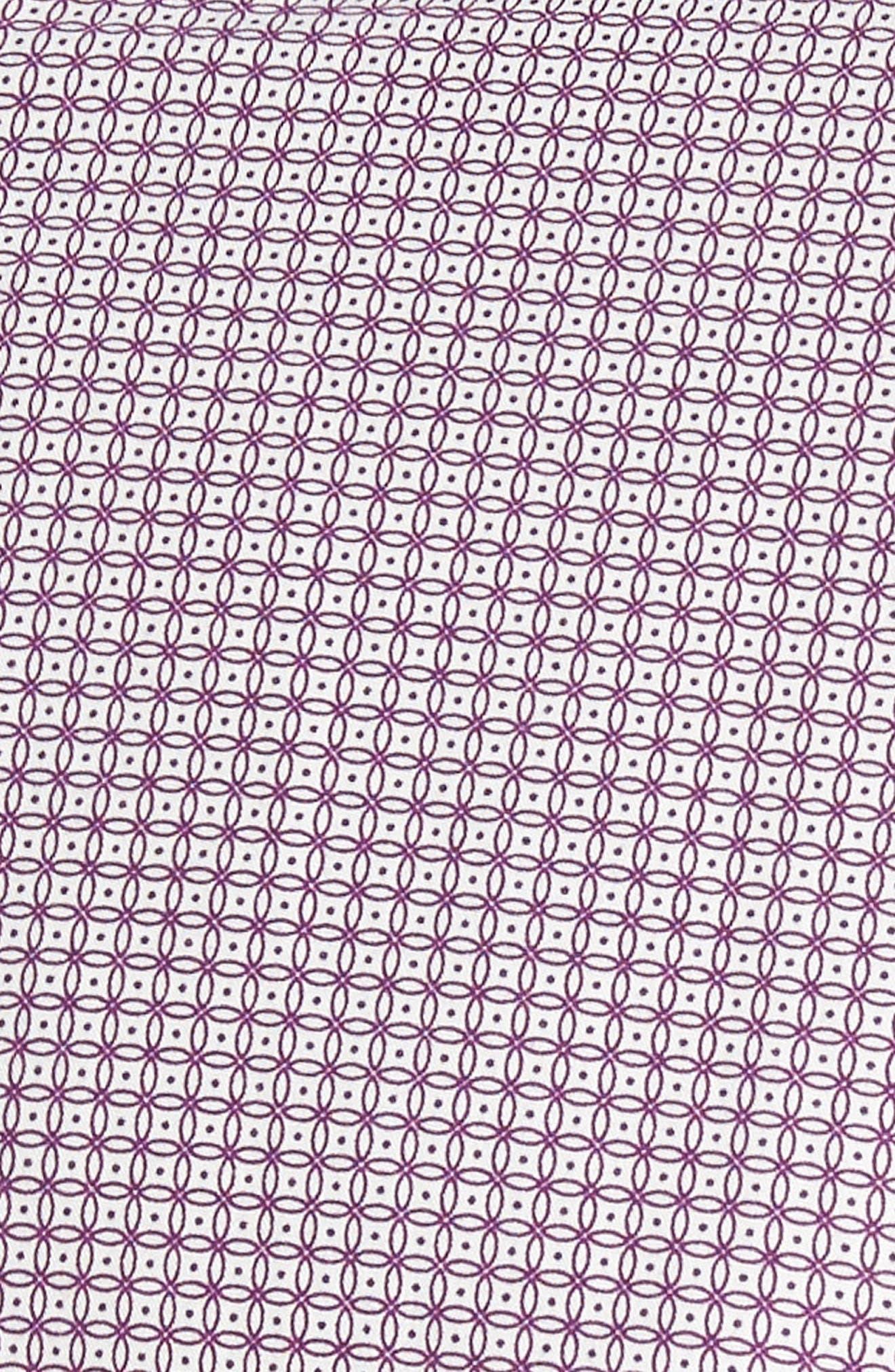 Tennent Trim Fit Microprint Woven Shirt,                             Alternate thumbnail 6, color,                             Dp Purple