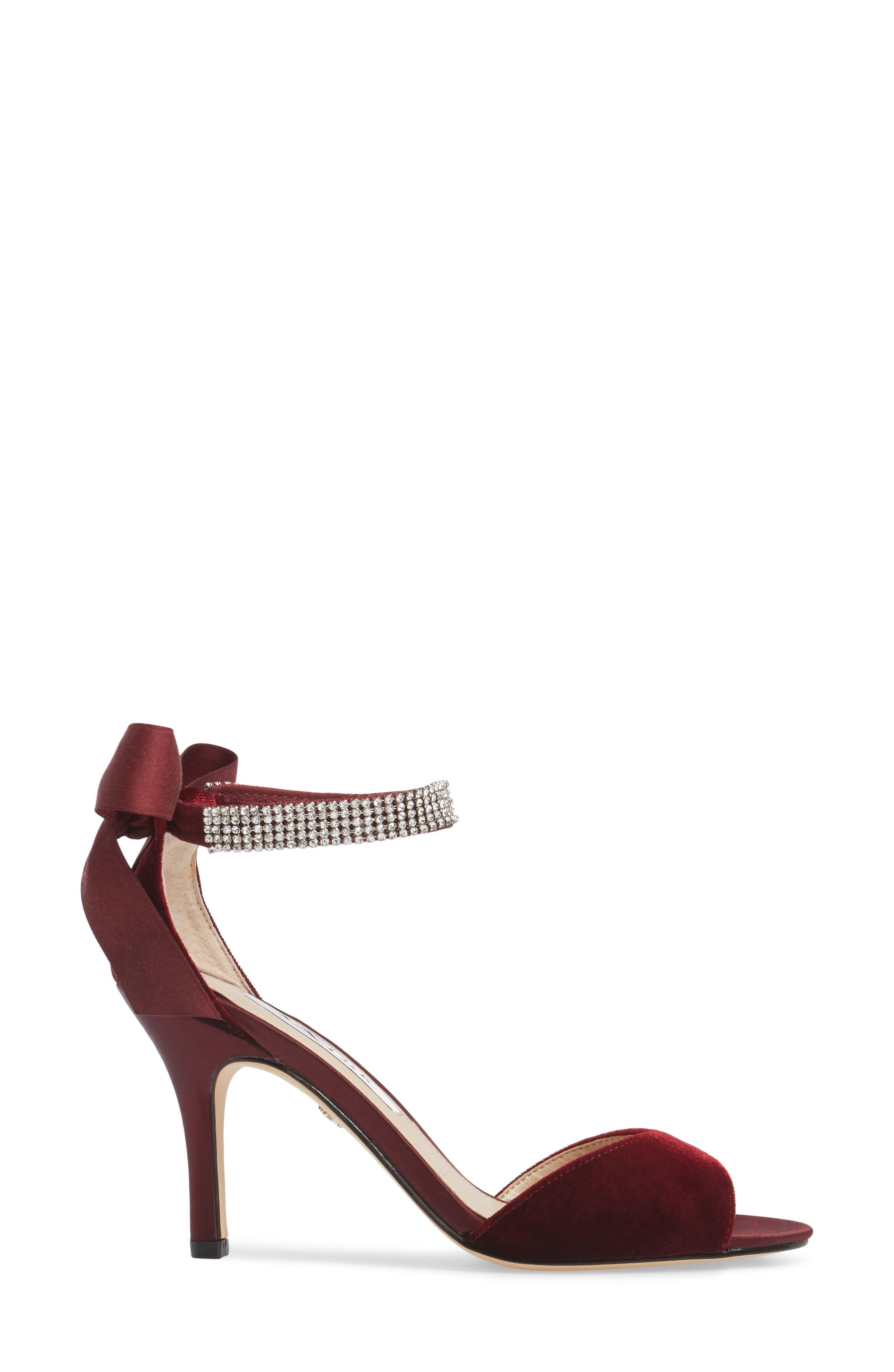 Alternate Image 3  - Nina 'Vinnie' Crystal Embellished Ankle Strap Sandal (Women)