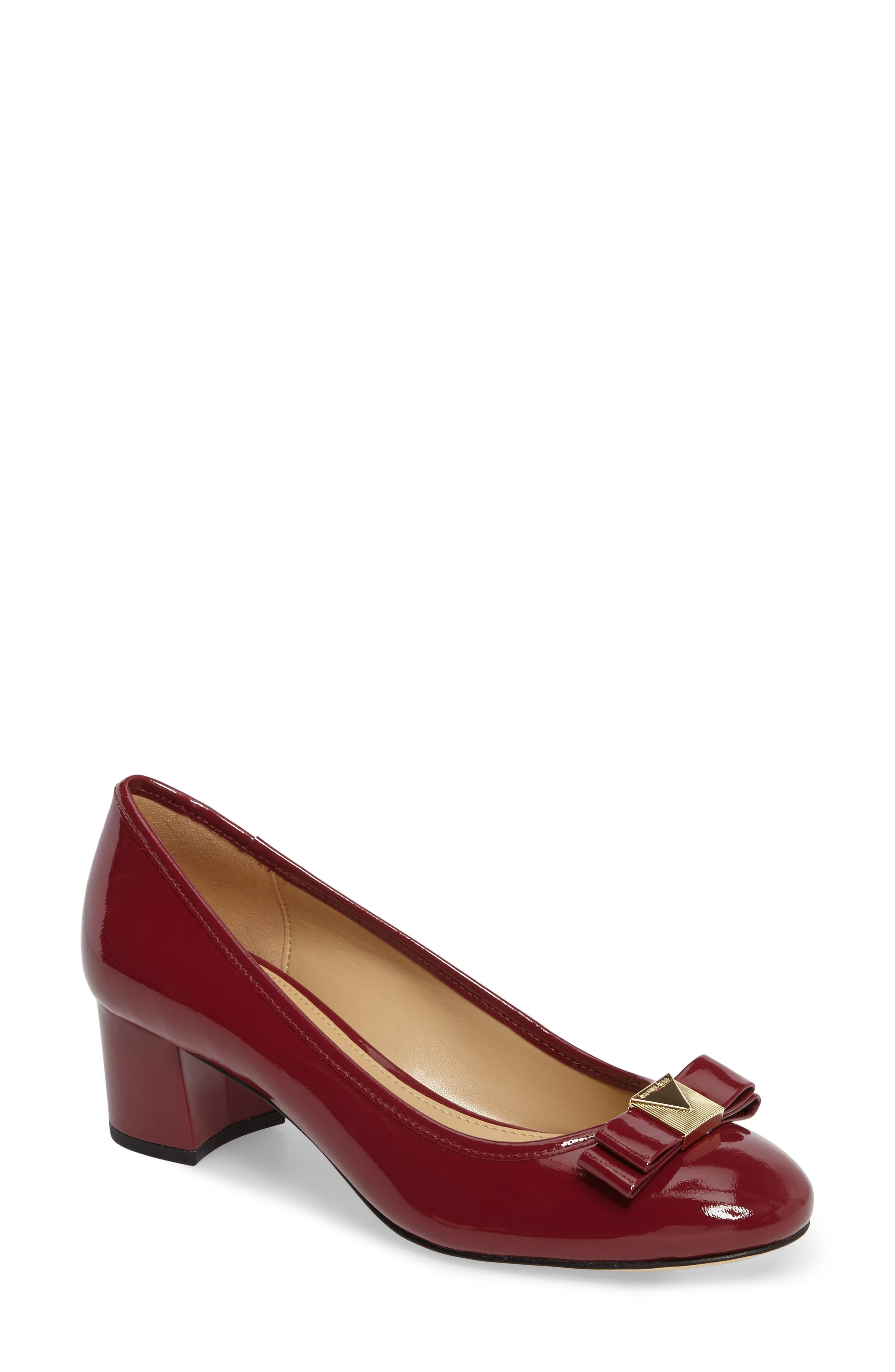 Caroline Pump,                             Main thumbnail 1, color,                             Mulberry Patent Leather