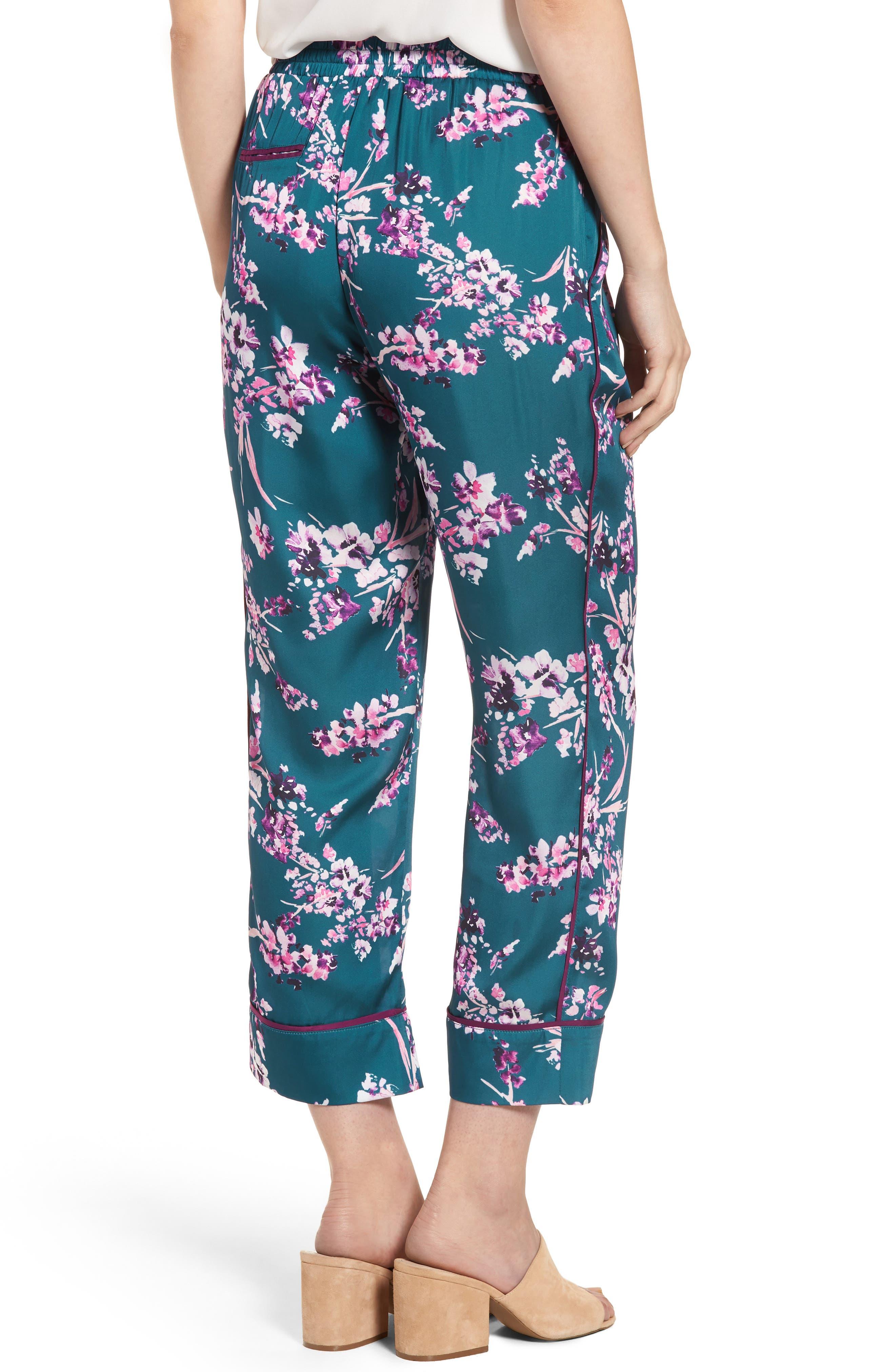 Katrina Print Pants,                             Alternate thumbnail 2, color,                             Moroccan Blossom