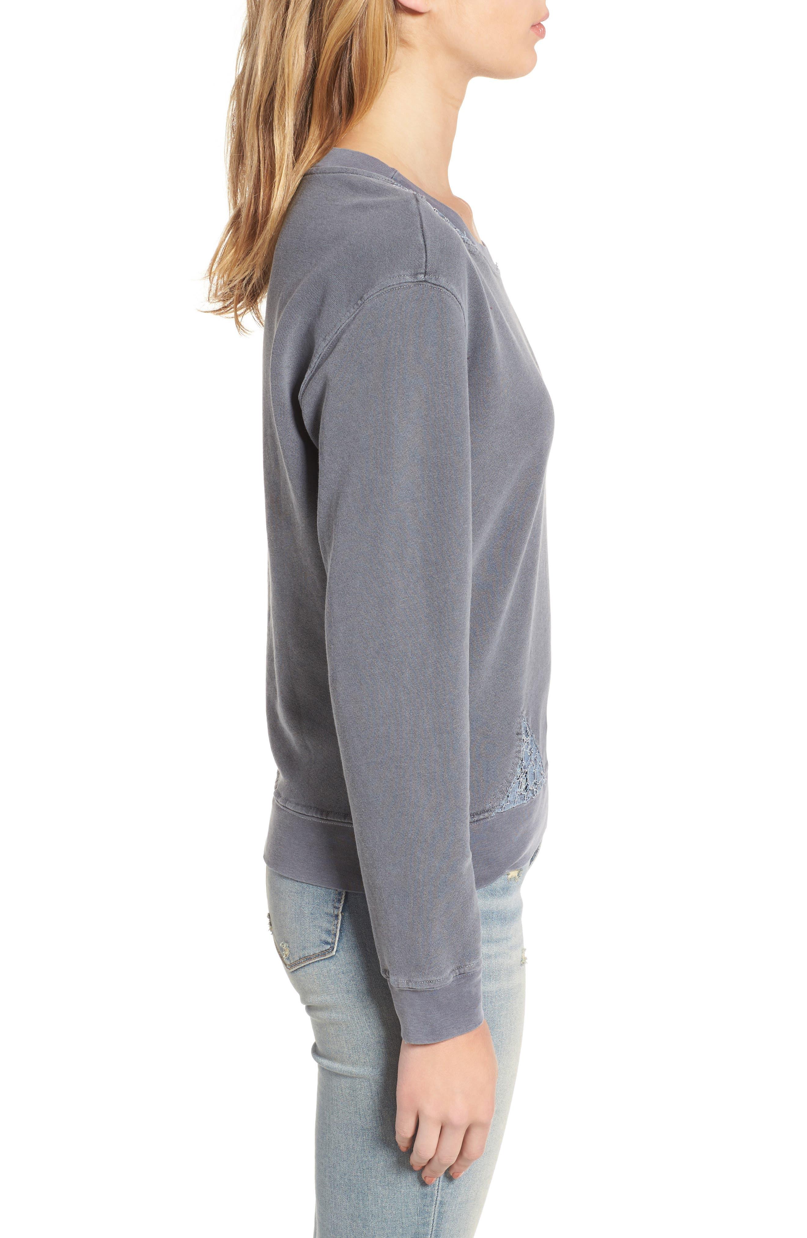 Alternate Image 3  - Stateside Lace Trim Sweatshirt