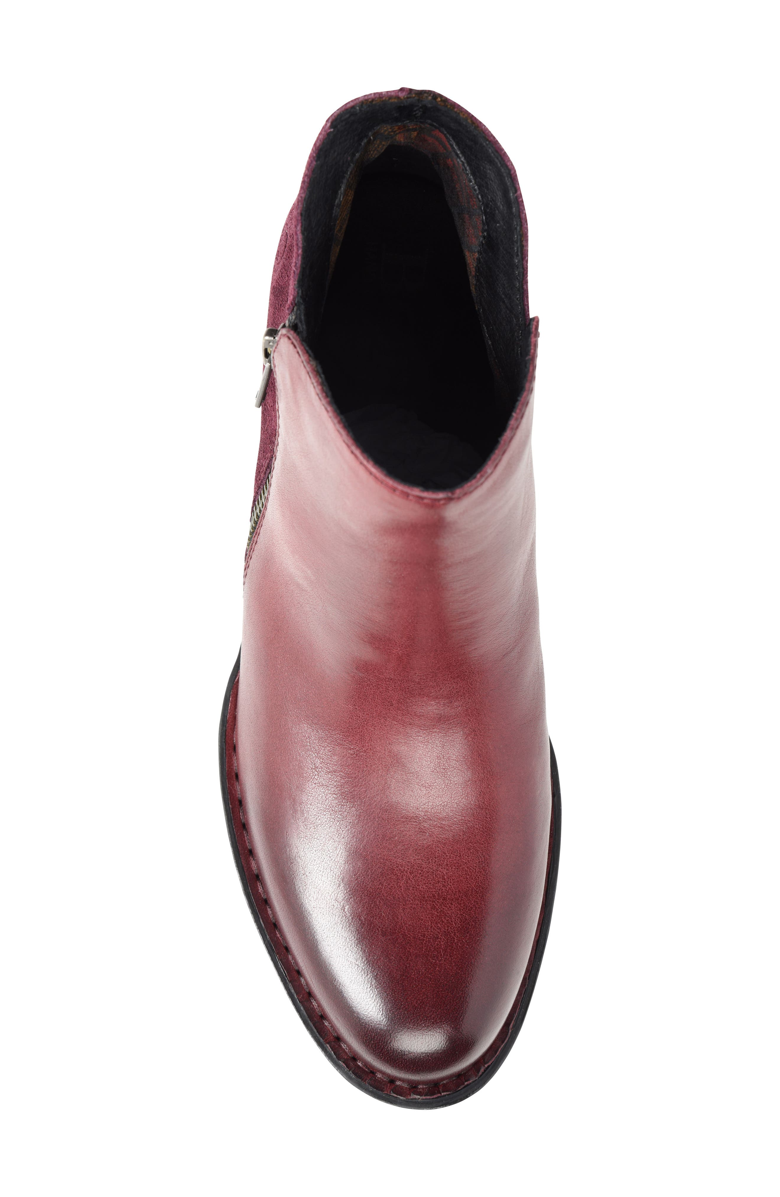 Keefe Bootie,                             Alternate thumbnail 5, color,                             Burgundy/ Purple Combo