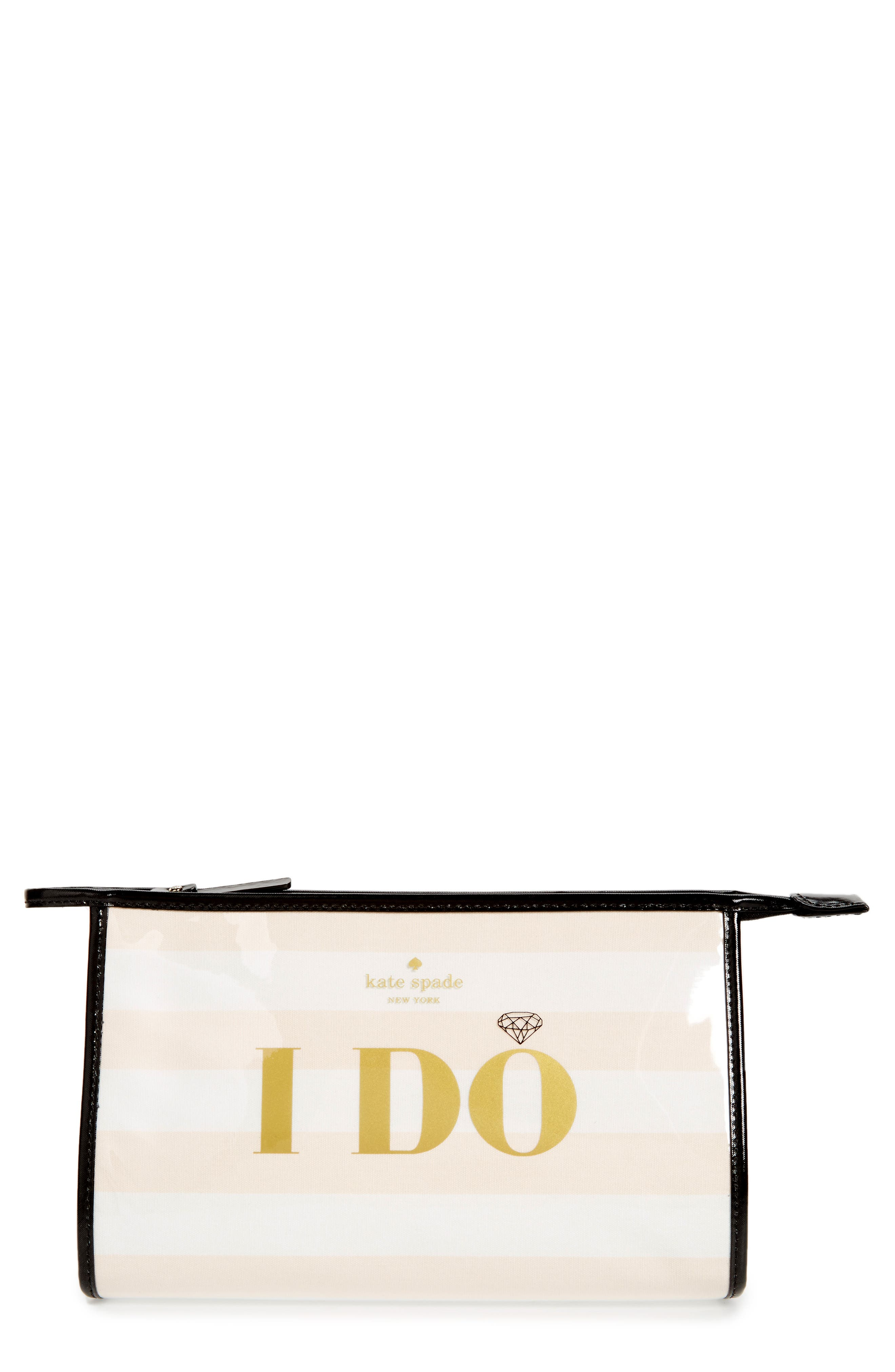 wedding belles - i do/i did pouch,                             Main thumbnail 1, color,                             Multi