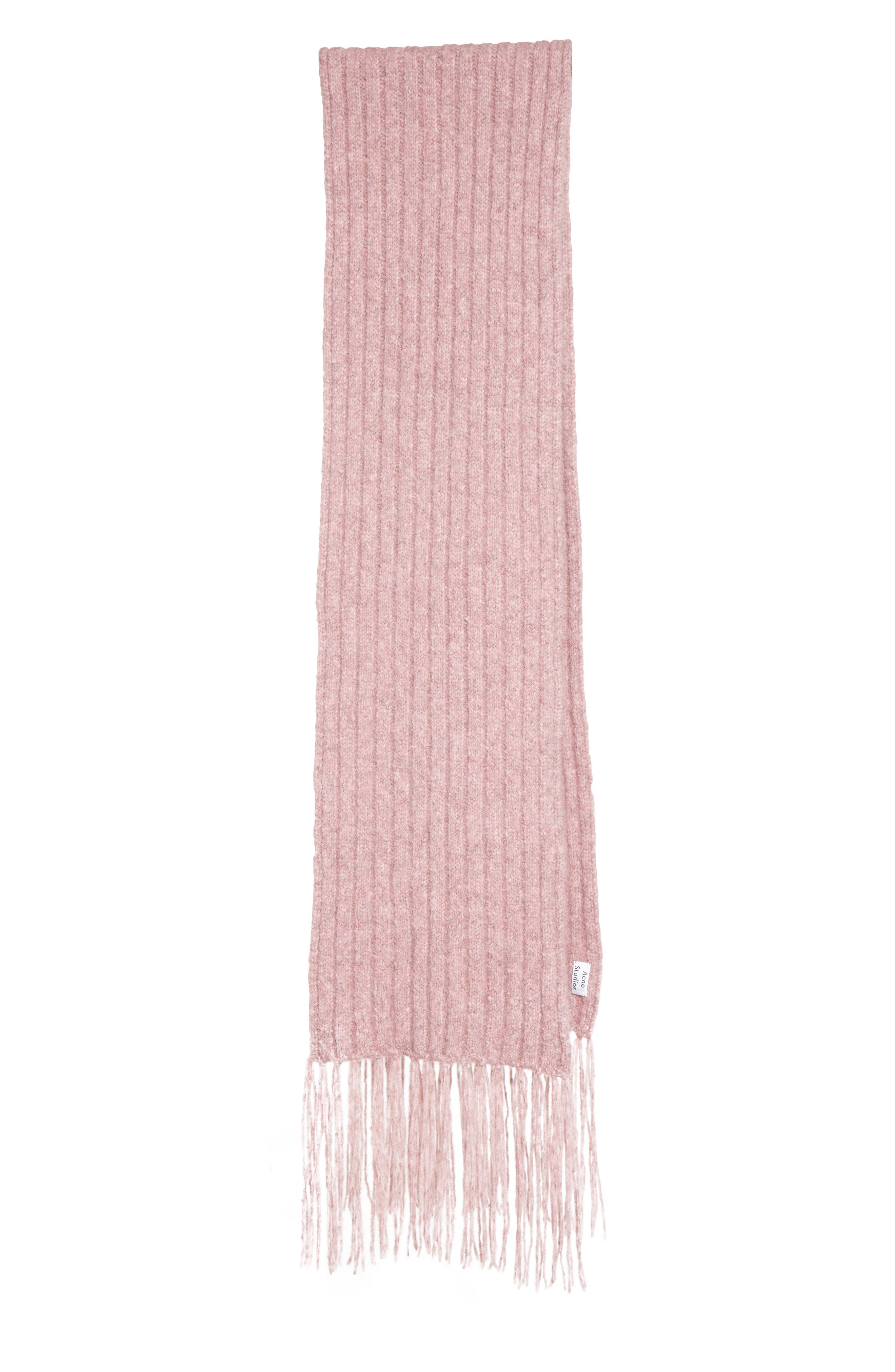 Fringed Alpaca Blend Scarf,                         Main,                         color, Dusty Pink