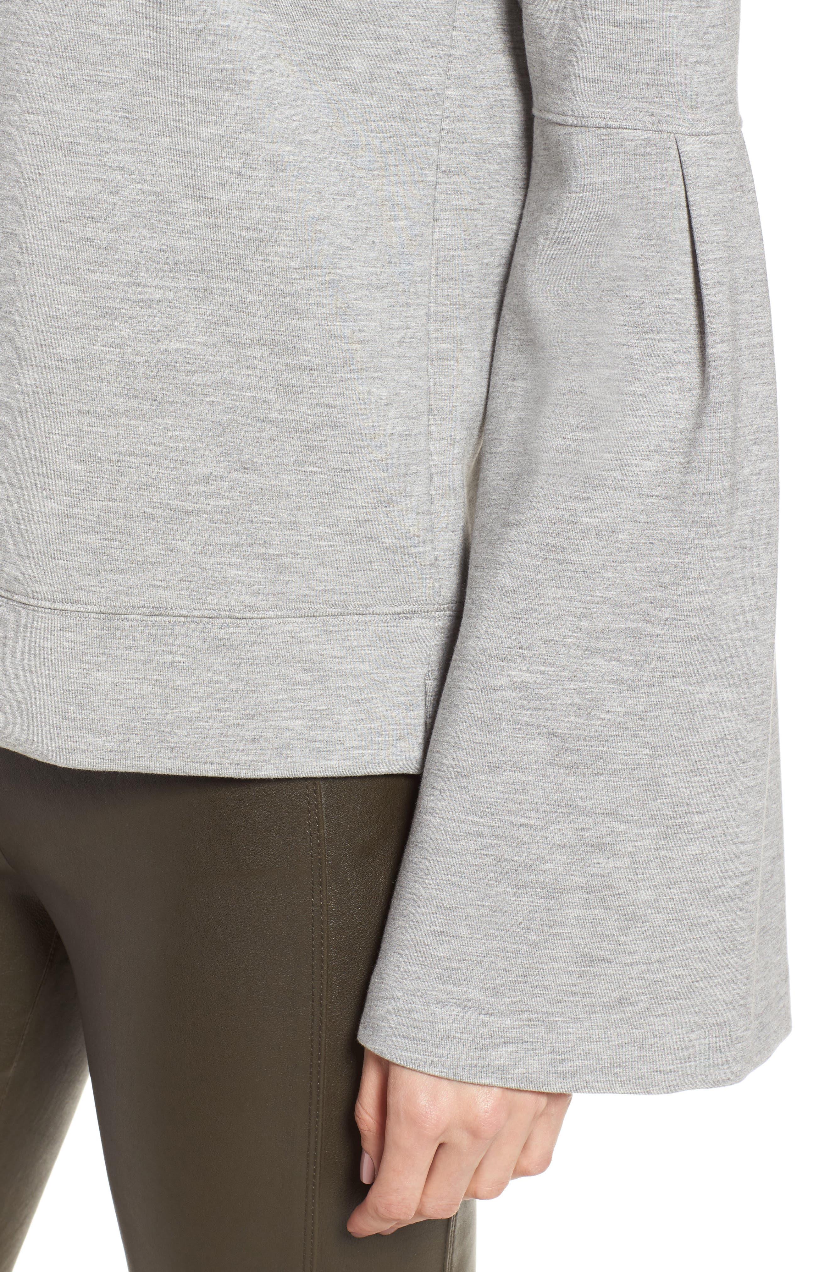 Alternate Image 4  - Nordstrom Signature Bell Sleeve Sweatshirt