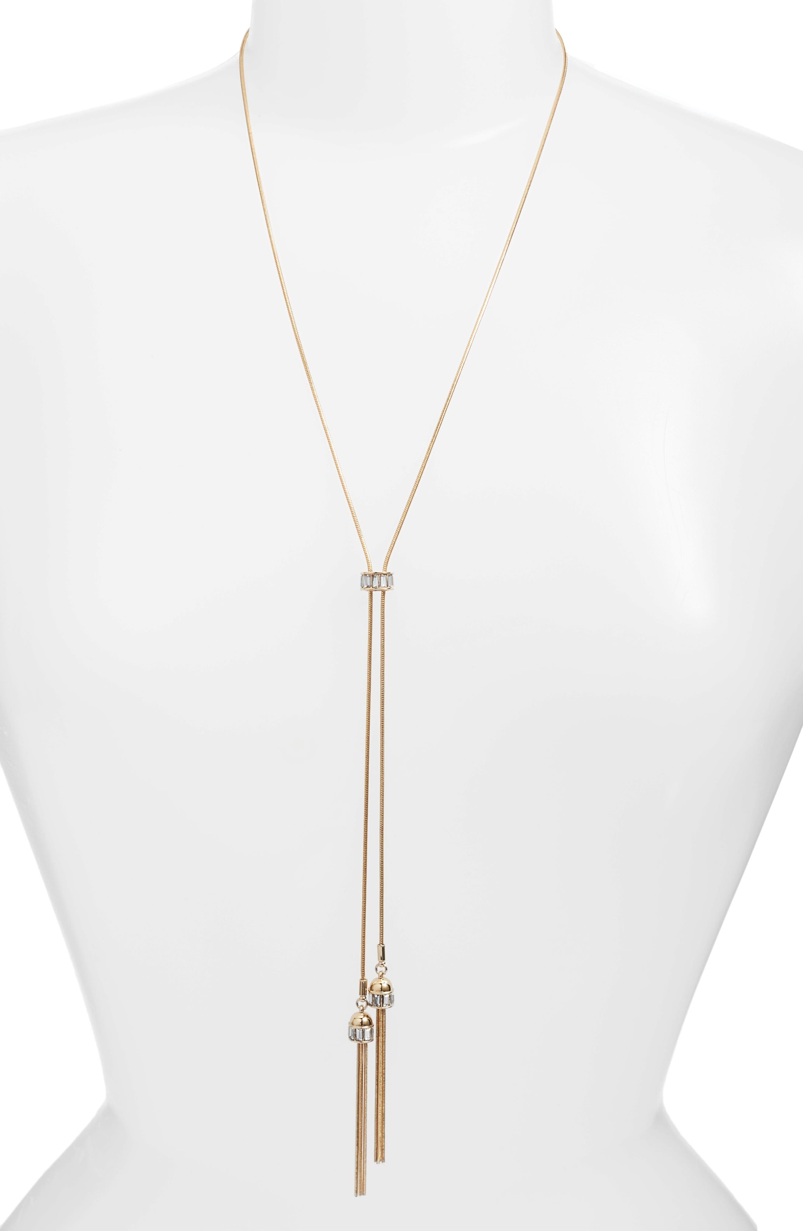 Long Pendant Necklace,                         Main,                         color, Gold