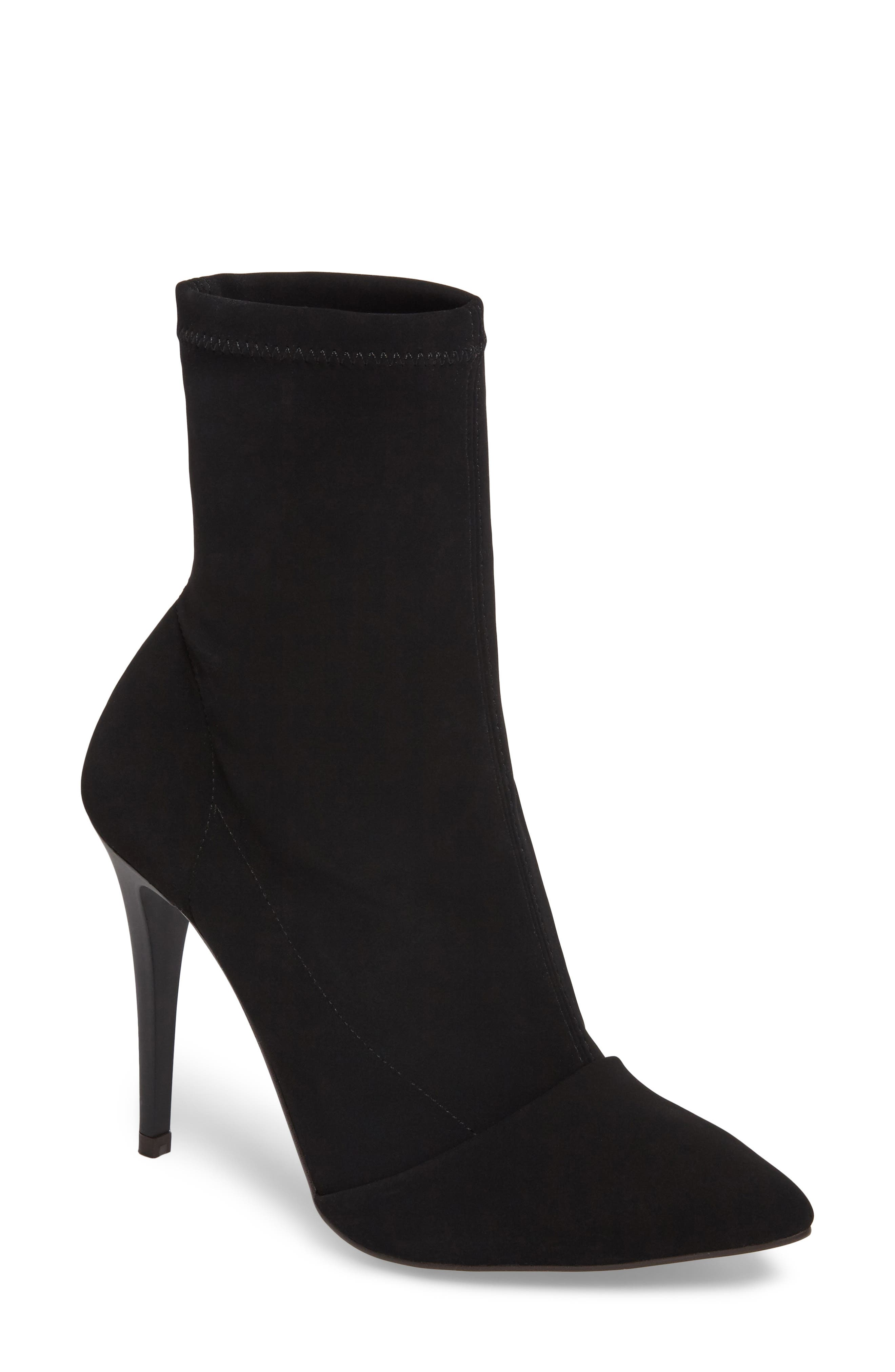 Hubba Pointy Toe Bootie,                         Main,                         color, Black