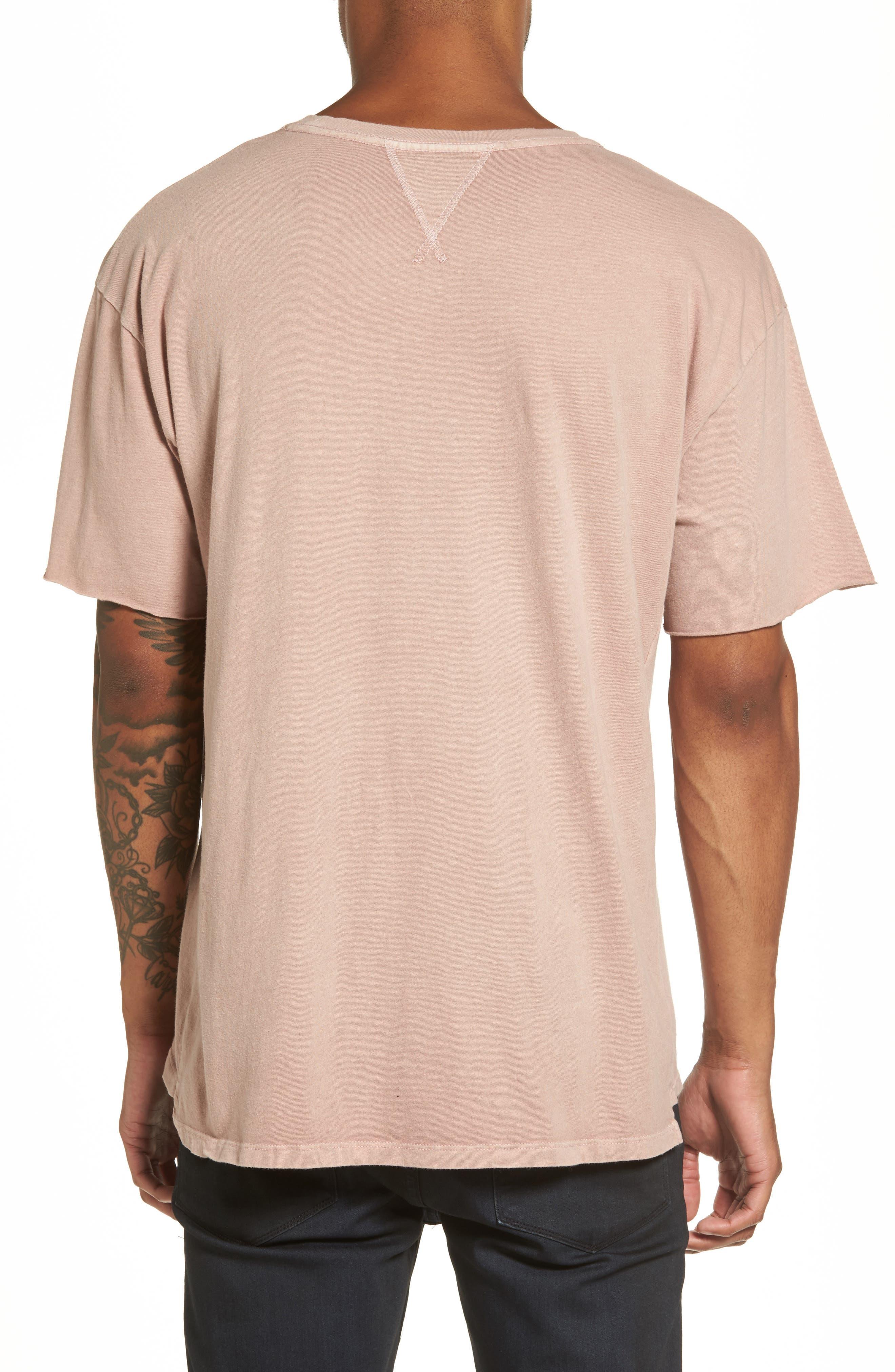 Mineral Wash T-Shirt,                             Alternate thumbnail 2, color,                             Pink Adobe