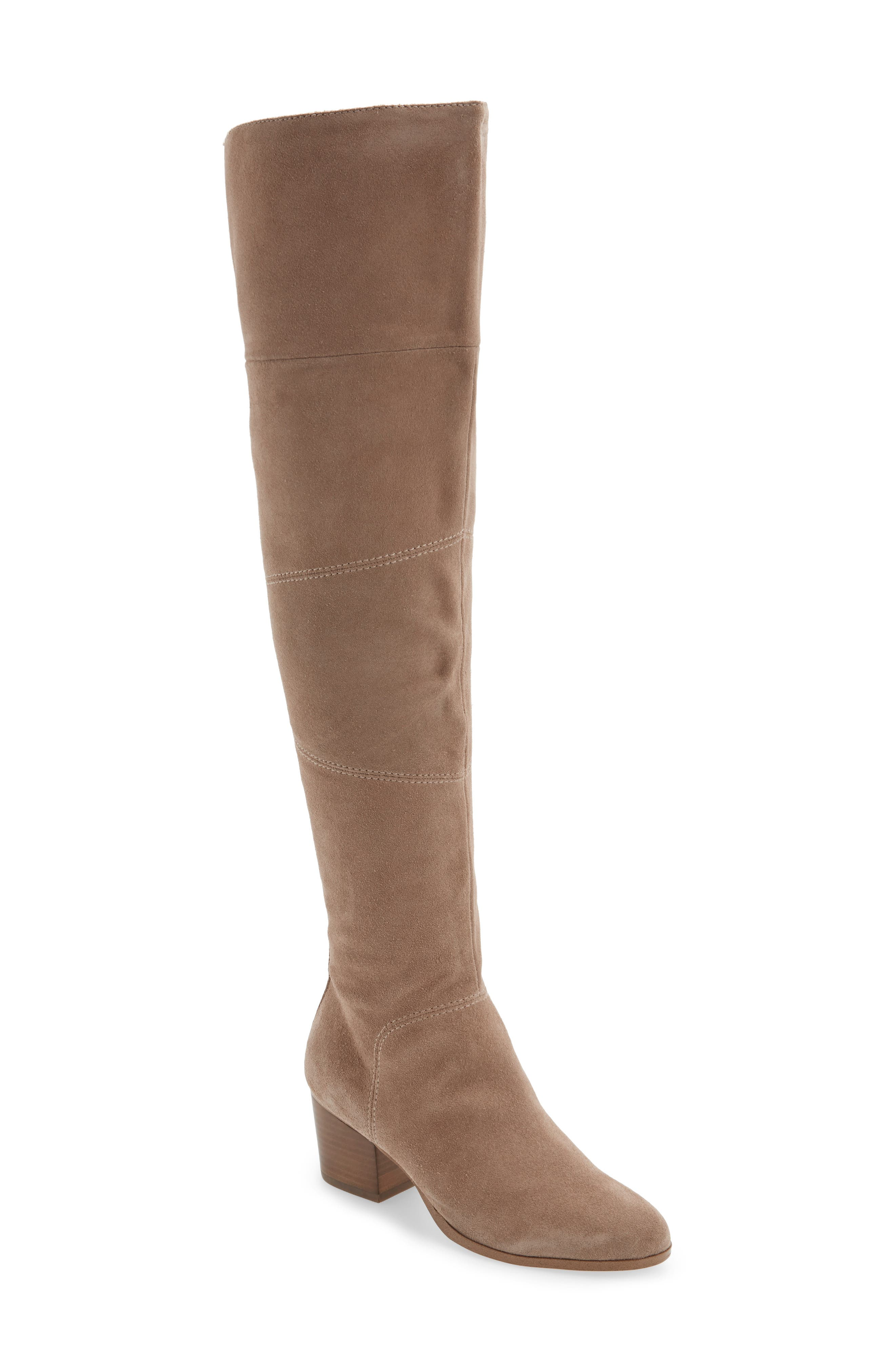 Melbourne Over the Knee Boot,                         Main,                         color, Night Taupe Suede