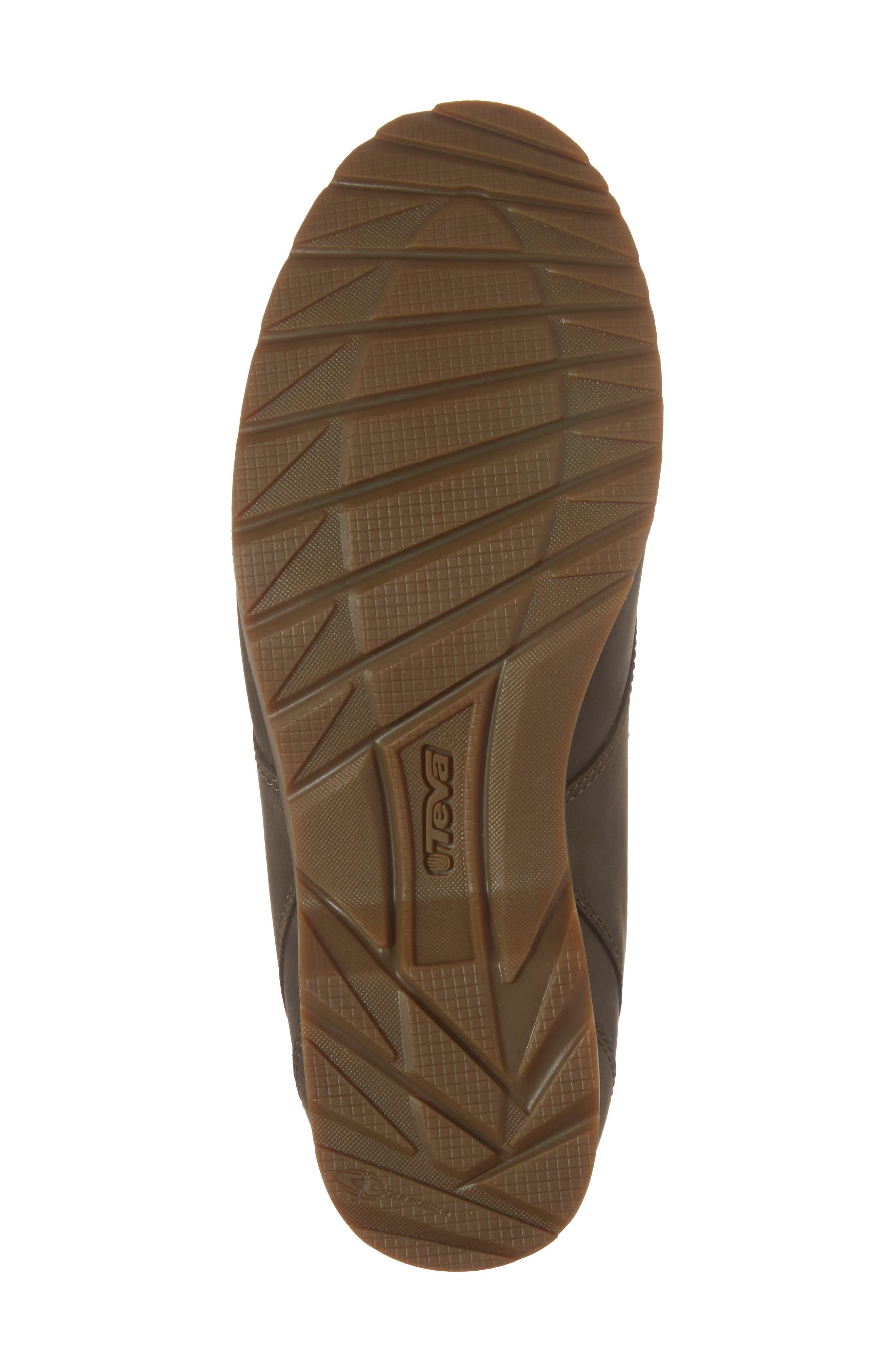 'De La Vina' Waterproof Lace-Up Boot,                             Alternate thumbnail 6, color,                             Dark Olive Leather