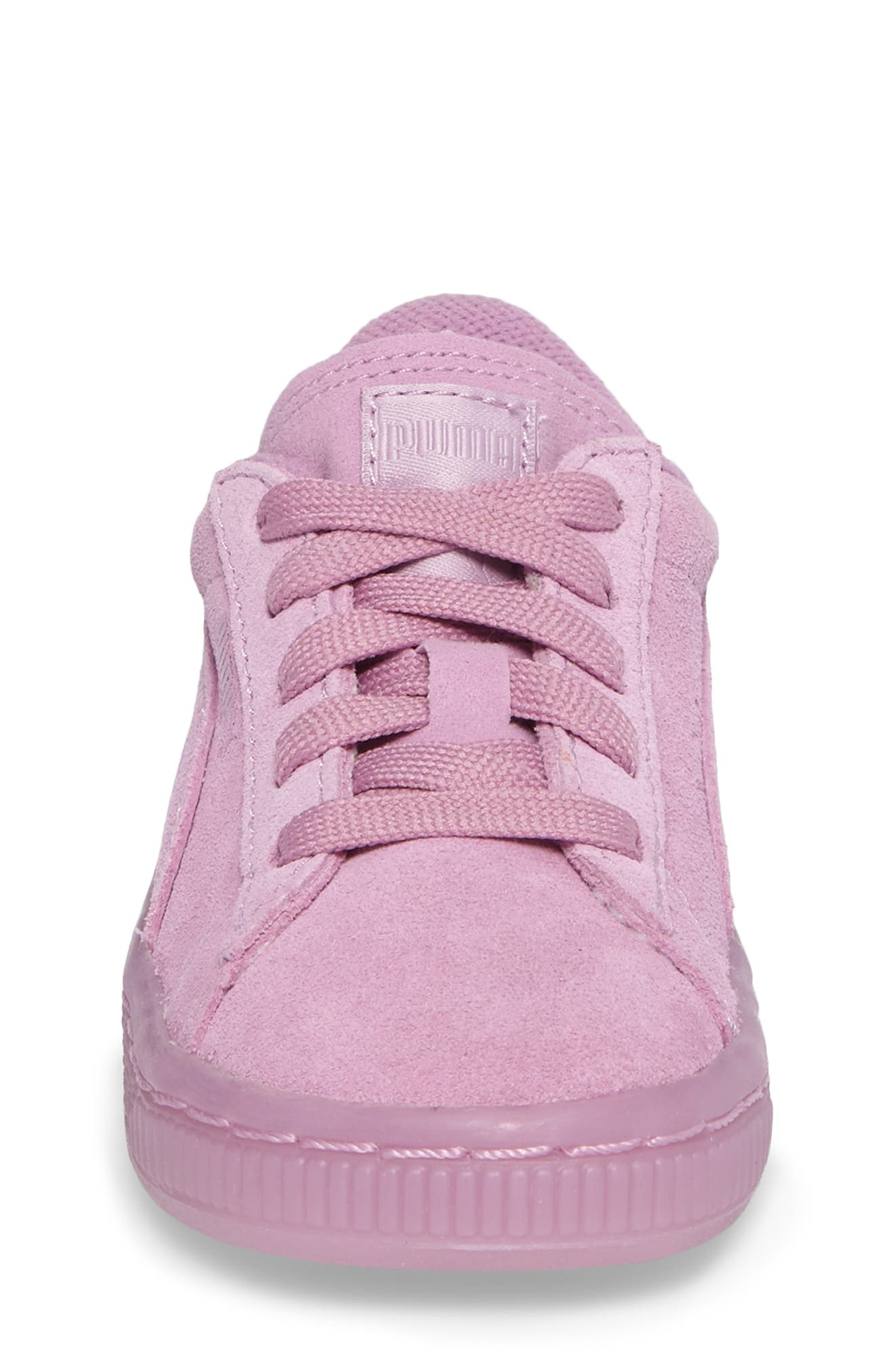 Suede Iced Sneaker,                             Alternate thumbnail 4, color,                             Smoky Grape