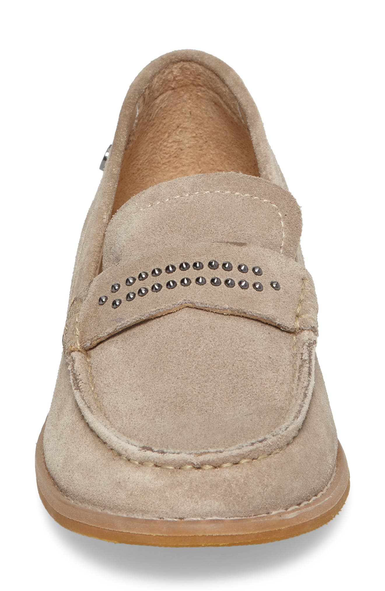 Aubree Chardon Loafer,                             Alternate thumbnail 4, color,                             Taupe Suede
